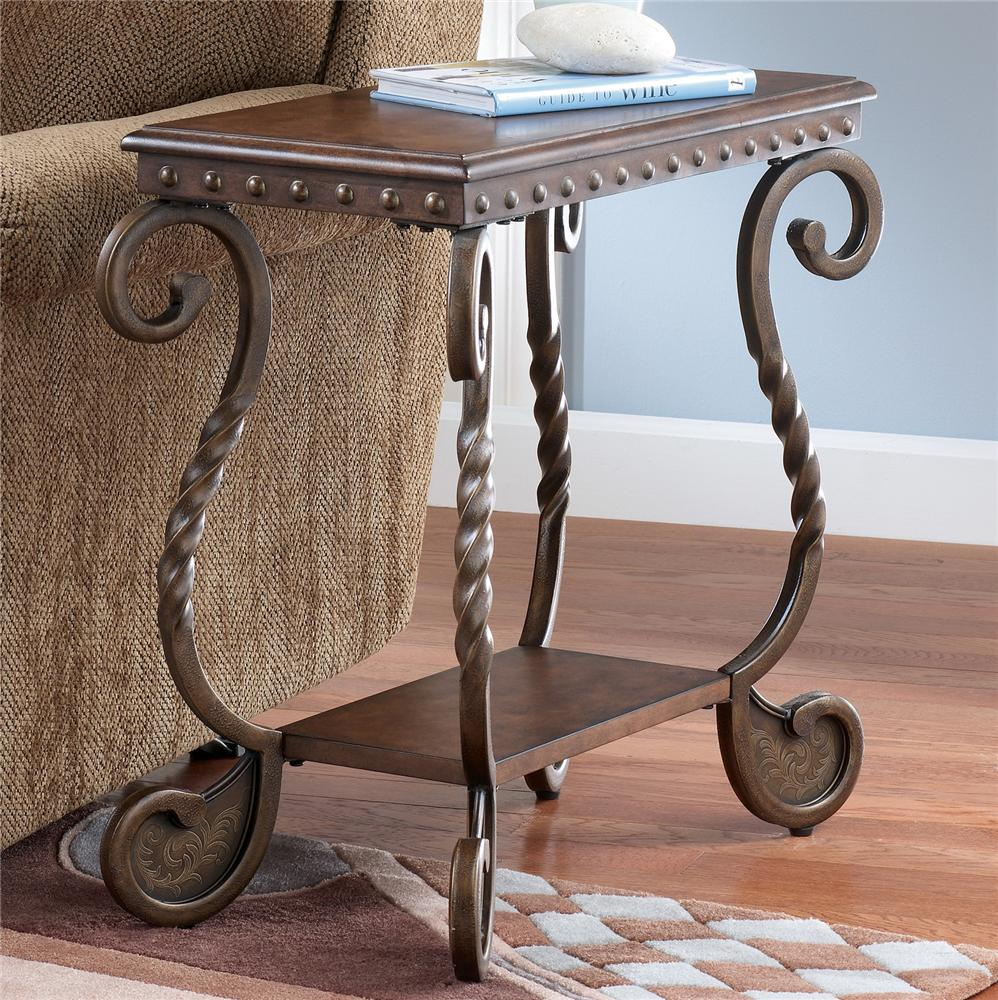 Signature Design By Ashley Rafferty Chairside End Table With Shelf Olinde 39 S Furniture End Table