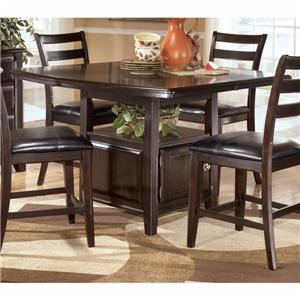 Signature design by ashley ridgley counter height table for Ridgley dining room set