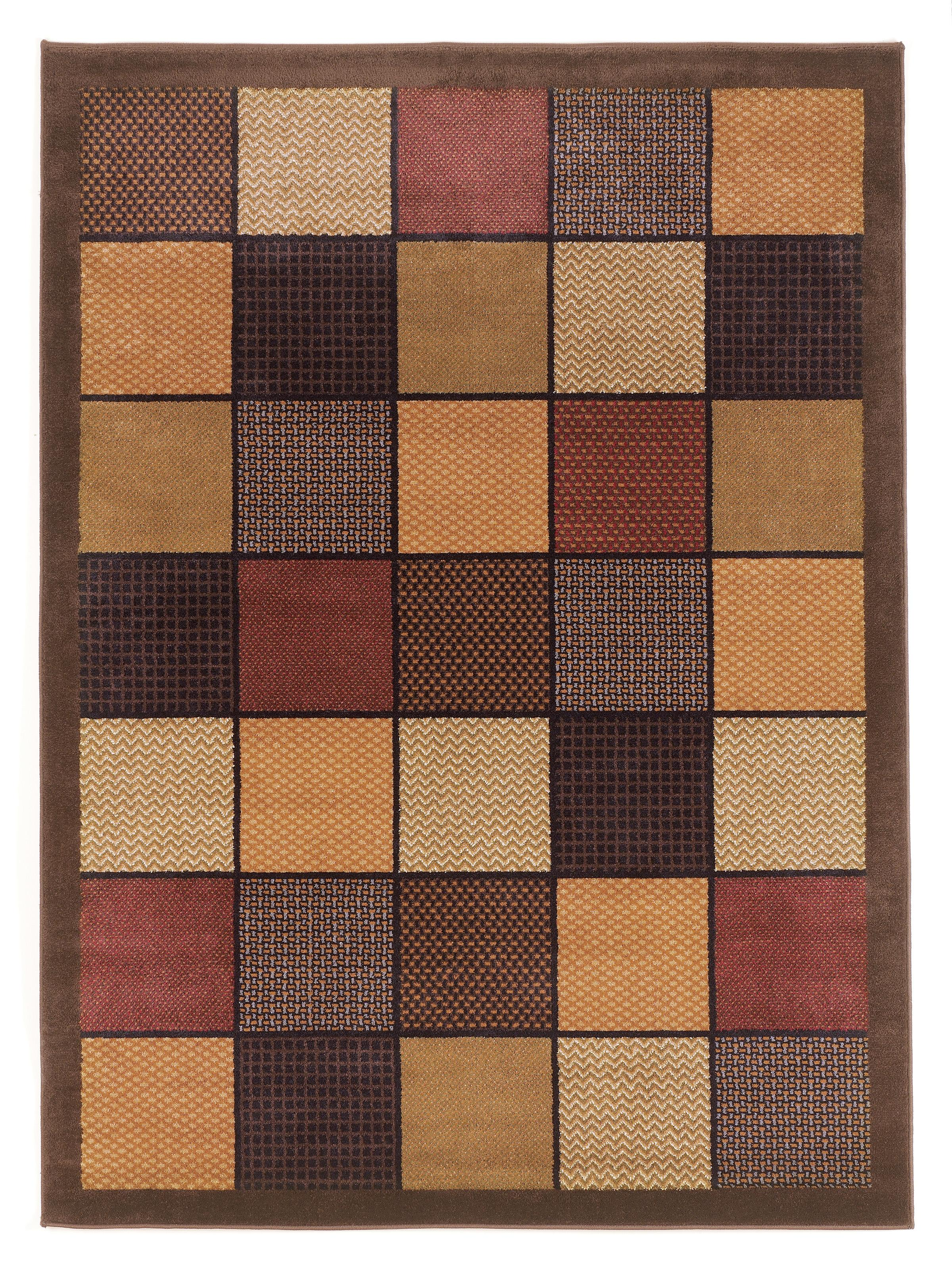 Signature Design By Ashley Contemporary Area Rugs Patchwork Brown Area Rug Olinde 39 S