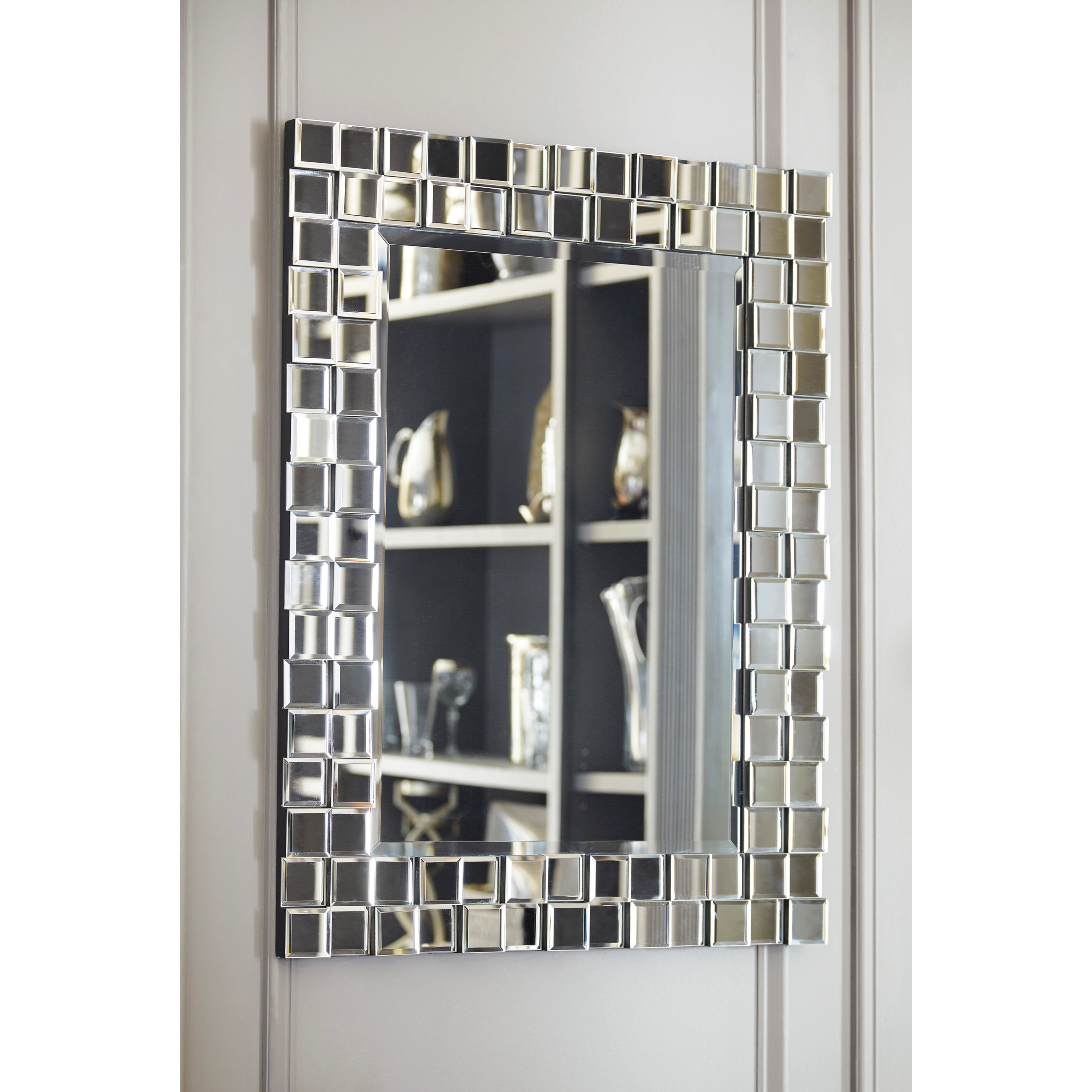 Signature design by ashley accent mirrors odelina accent for Accent wall mirrors