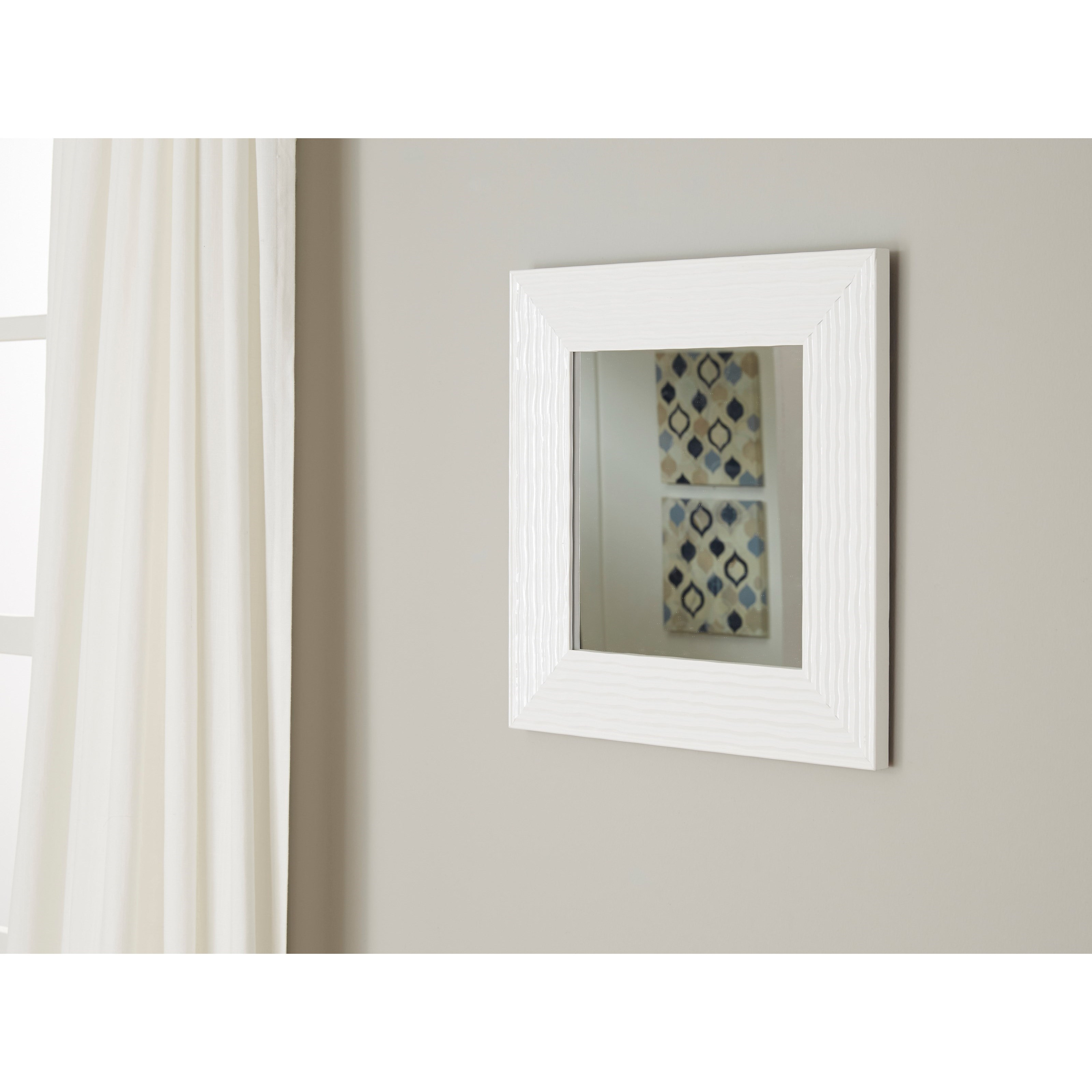 Signature design by ashley accent mirrors odelyn white for Accent wall mirrors