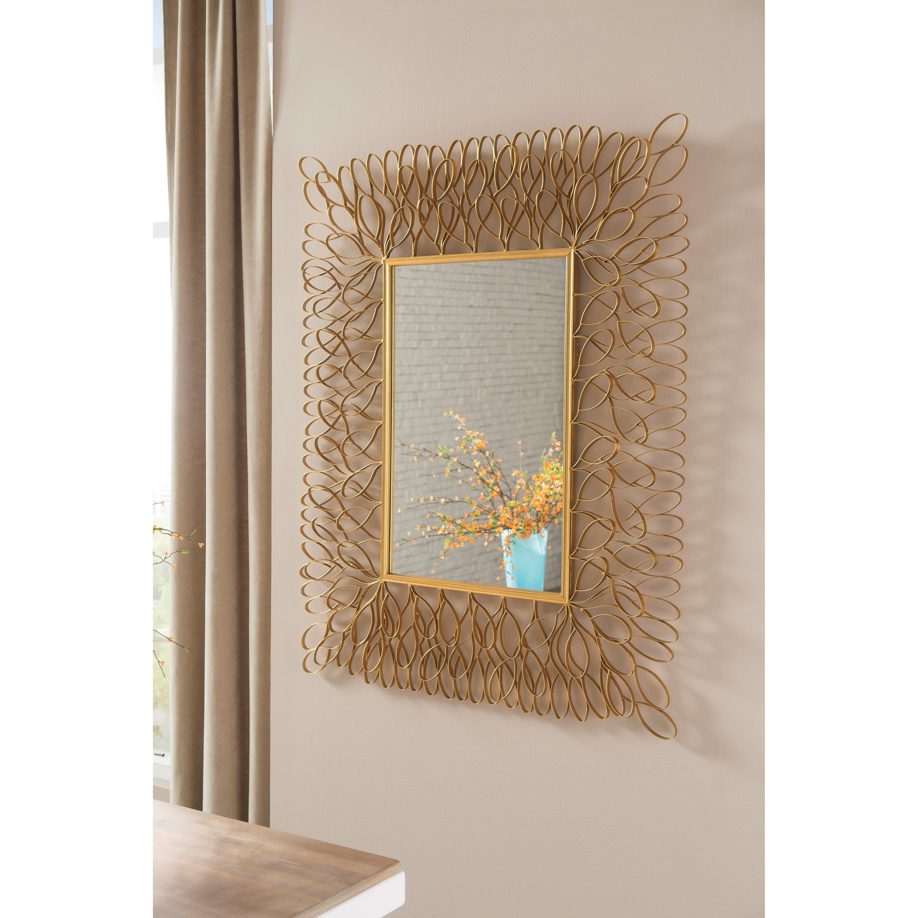 Signature design by ashley accent mirrors ogdon antique for Accent mirrors