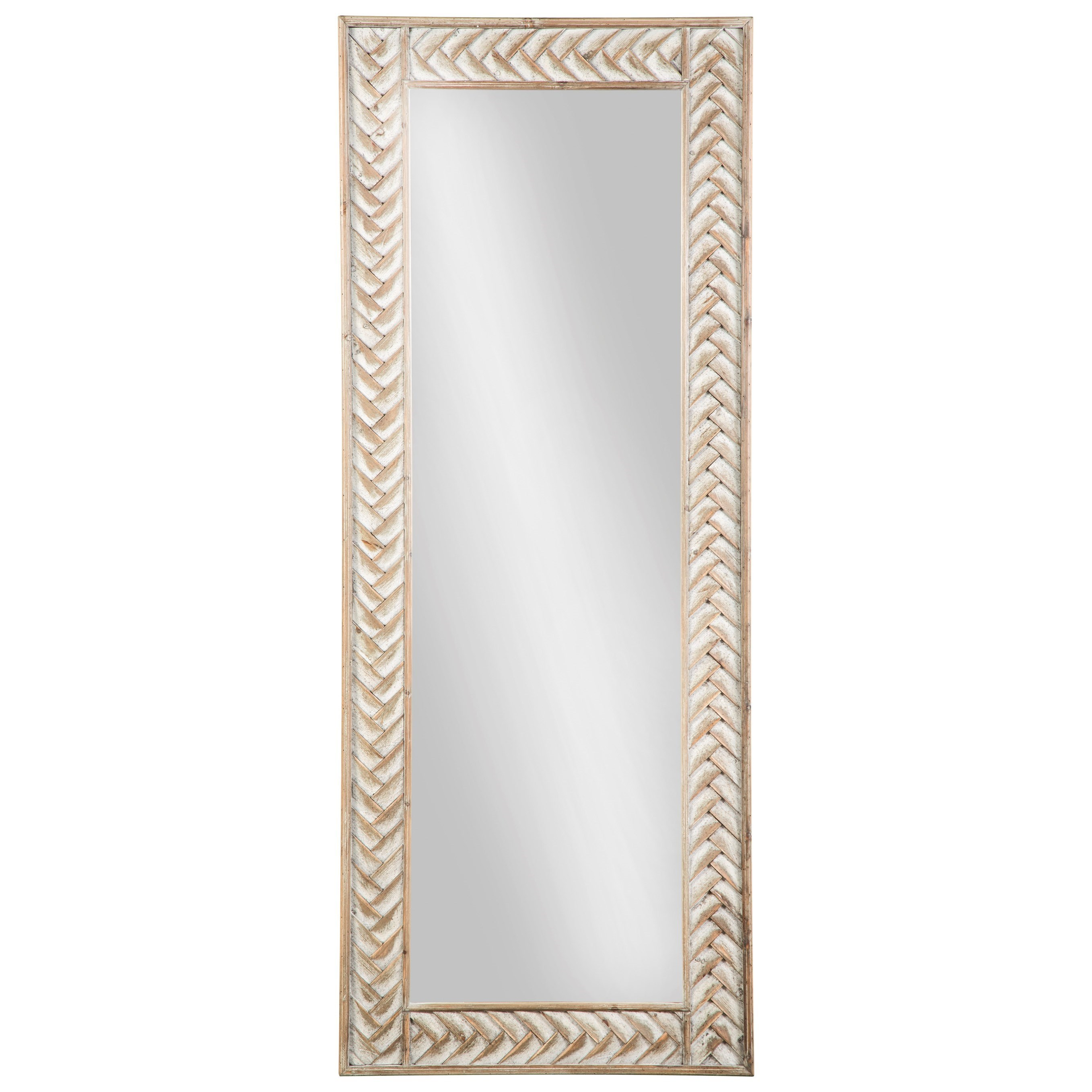 Signature design by ashley accent mirrors nash natural for Accent mirrors