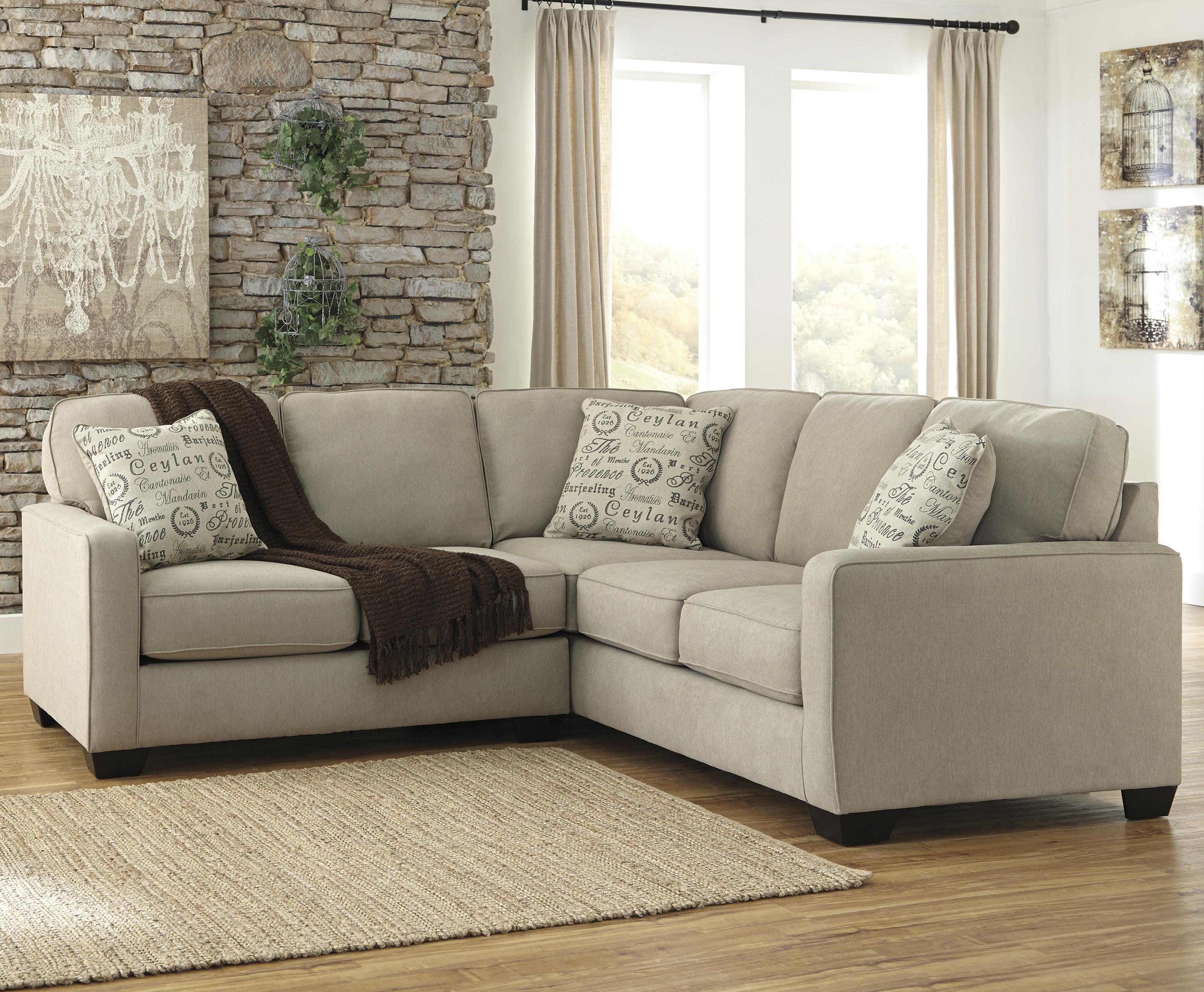 Ashley Signature Design Alenya Quartz 2 Piece Sectional With Left Loveseat Rooms And Rest