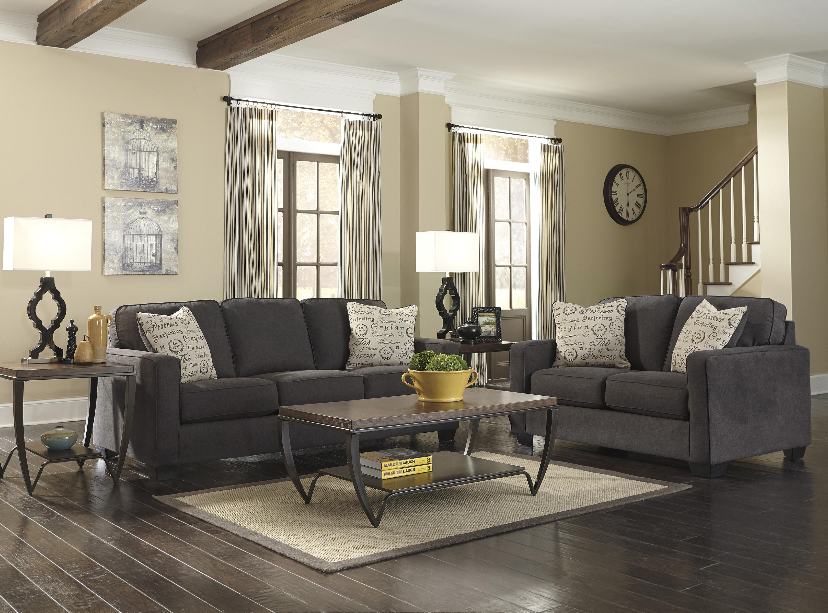 Signature Design By Ashley Alenya Charcoal Stationary Living Room Group Household Furniture