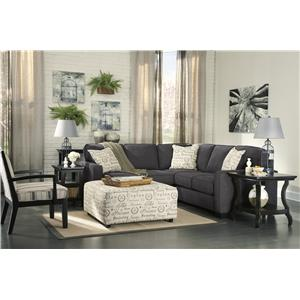 Signature design by ashley alenya charcoal 2 piece for Ashley furniture appleton