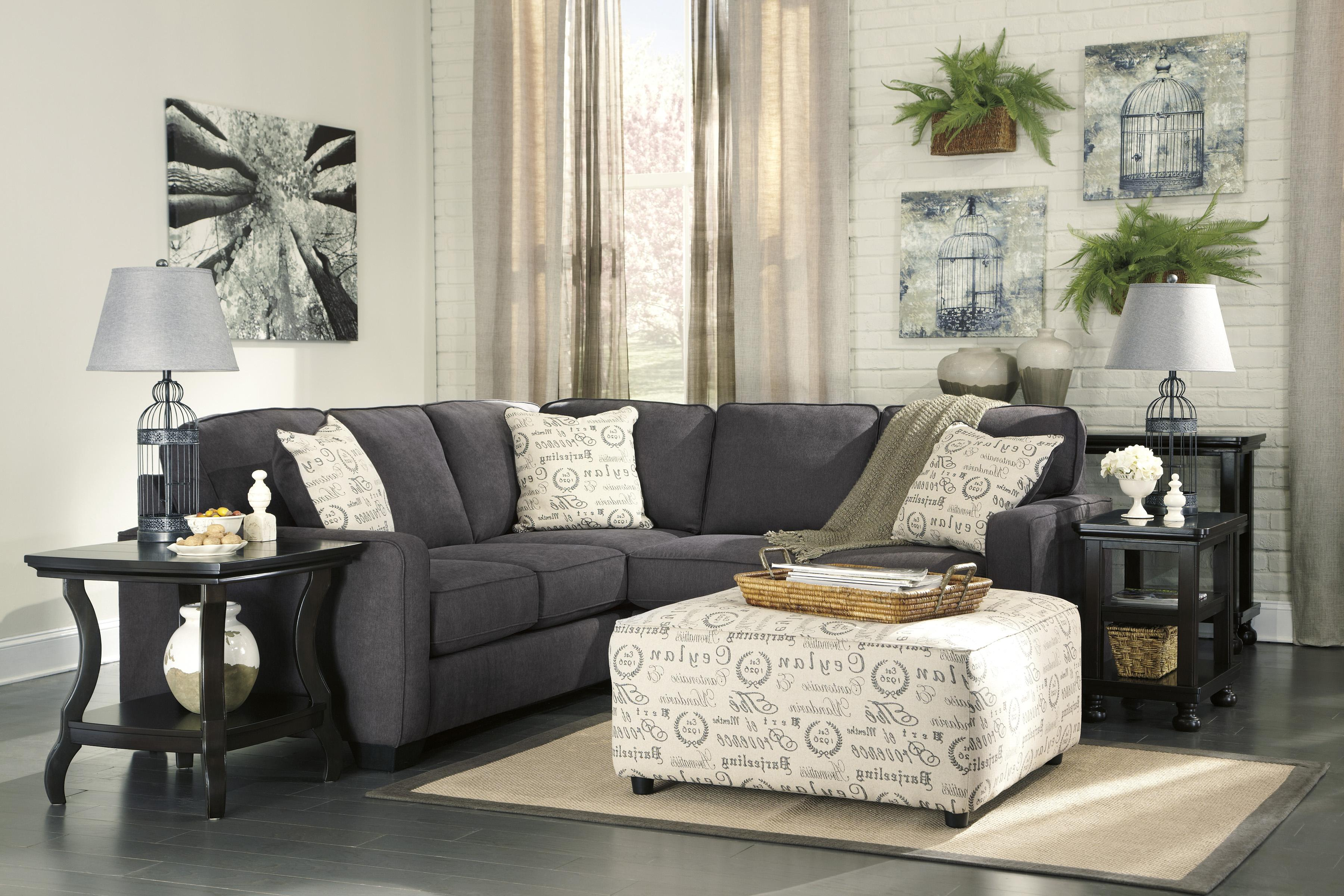 Signature design by ashley alenya charcoal 2 piece for Alenya 2 piece sofa sectional in charcoal