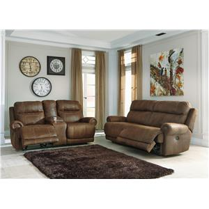 Signature Design By Ashley Furniture Oberson Gunsmoke Reclining Living Room Group Sam 39 S