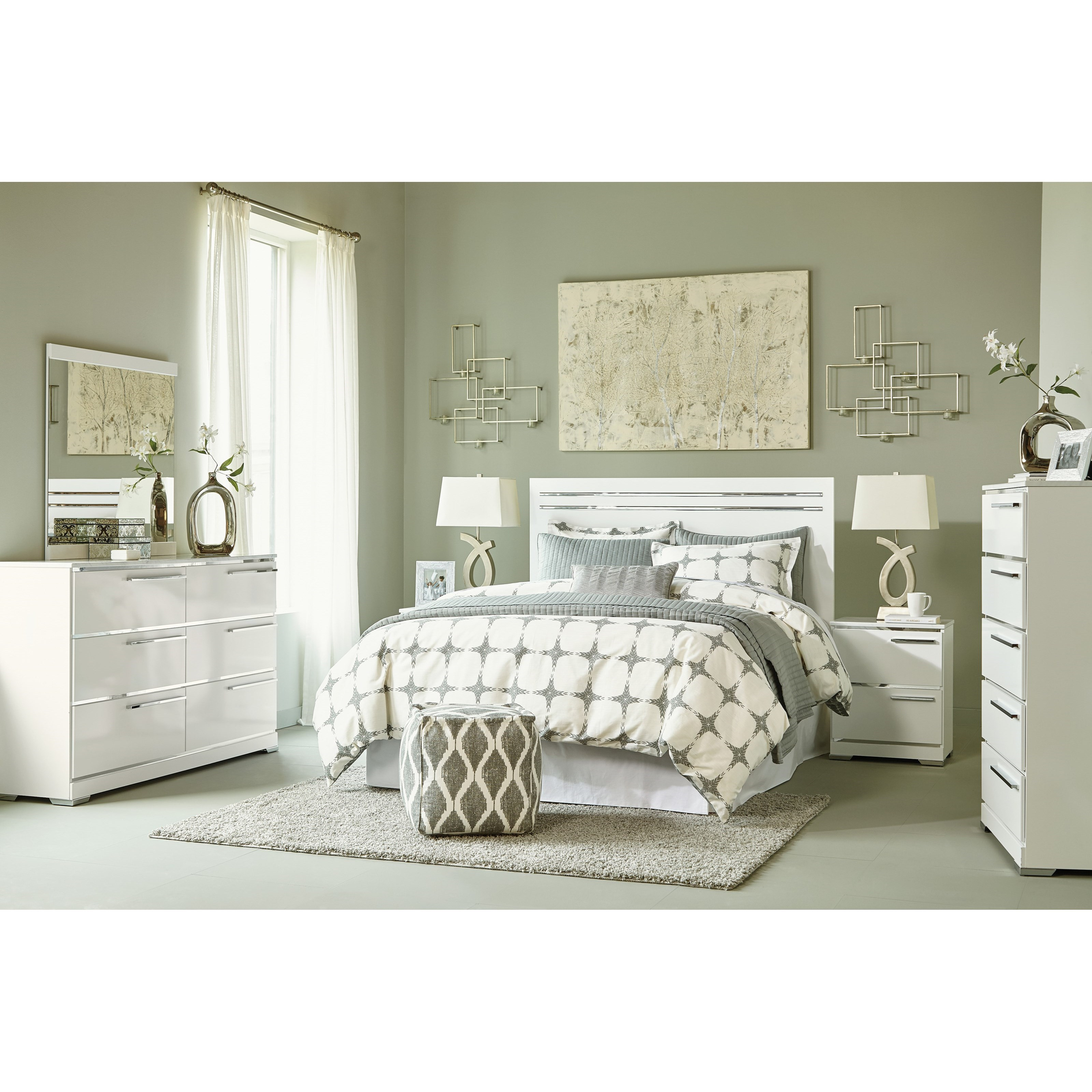 Signature design by ashley brillaney queen bedroom group for Bedroom groups