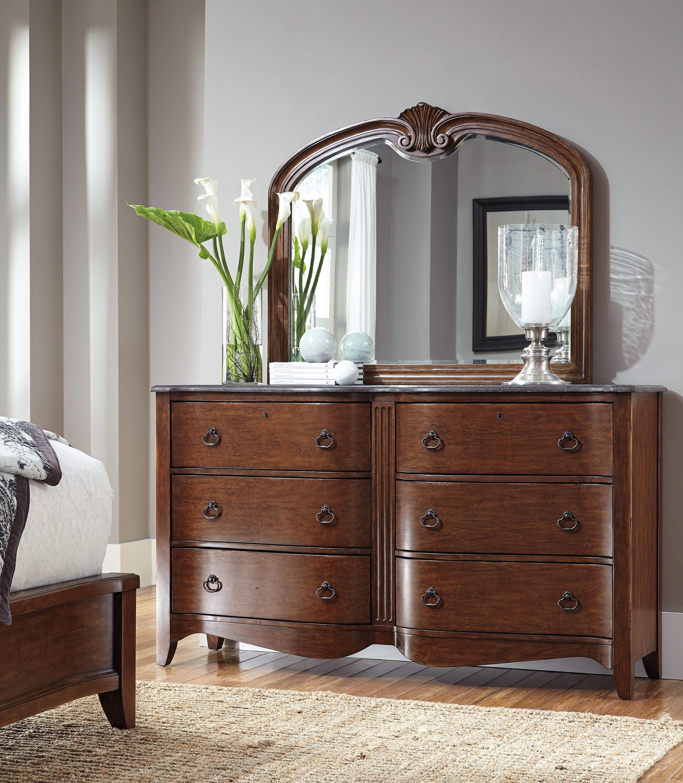 Signature design by ashley balinder transitional dresser - Comoda con espejo ...