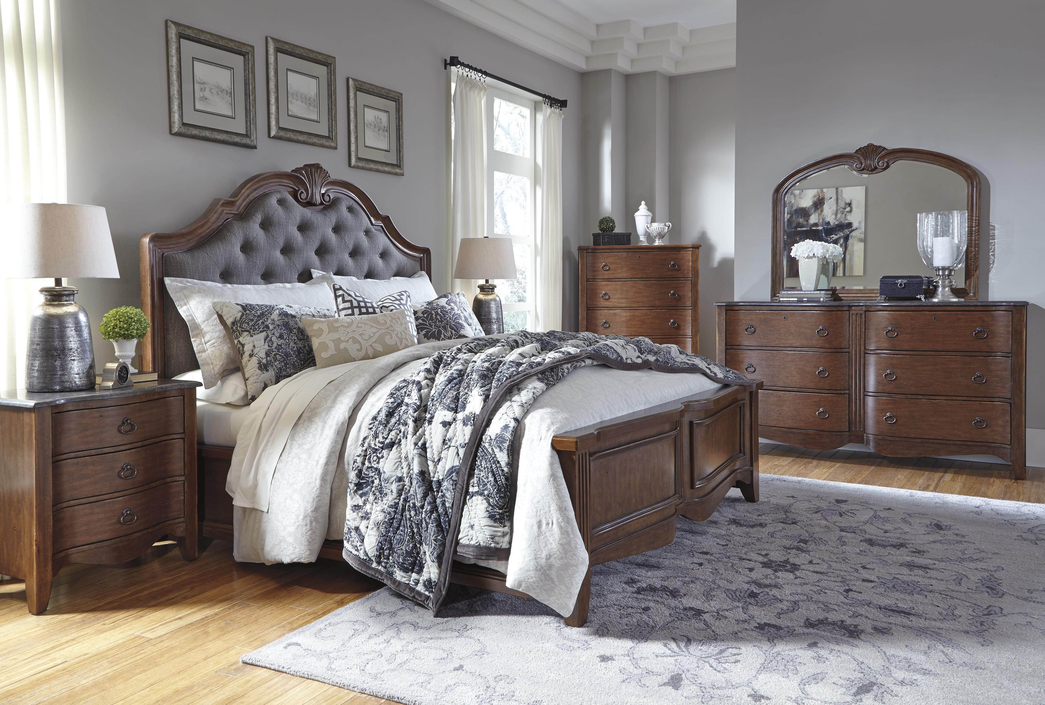 Signature Design by Ashley Balinder Transitional Dresser with Serpentine Drawers and Bluestone ...