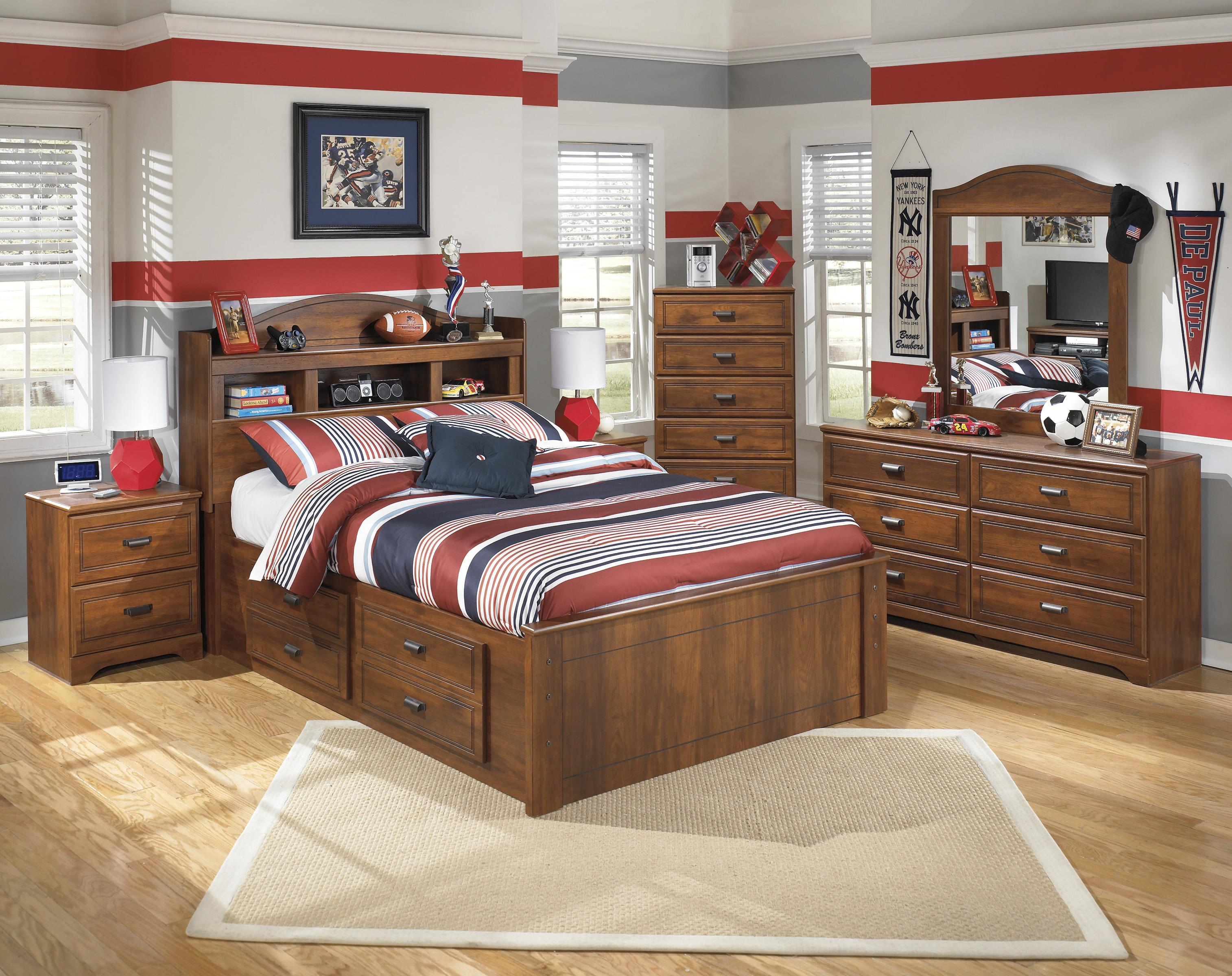 Signature Design By Ashley Barchan Full Bookcase Bed With Underbed Storage John V Schultz