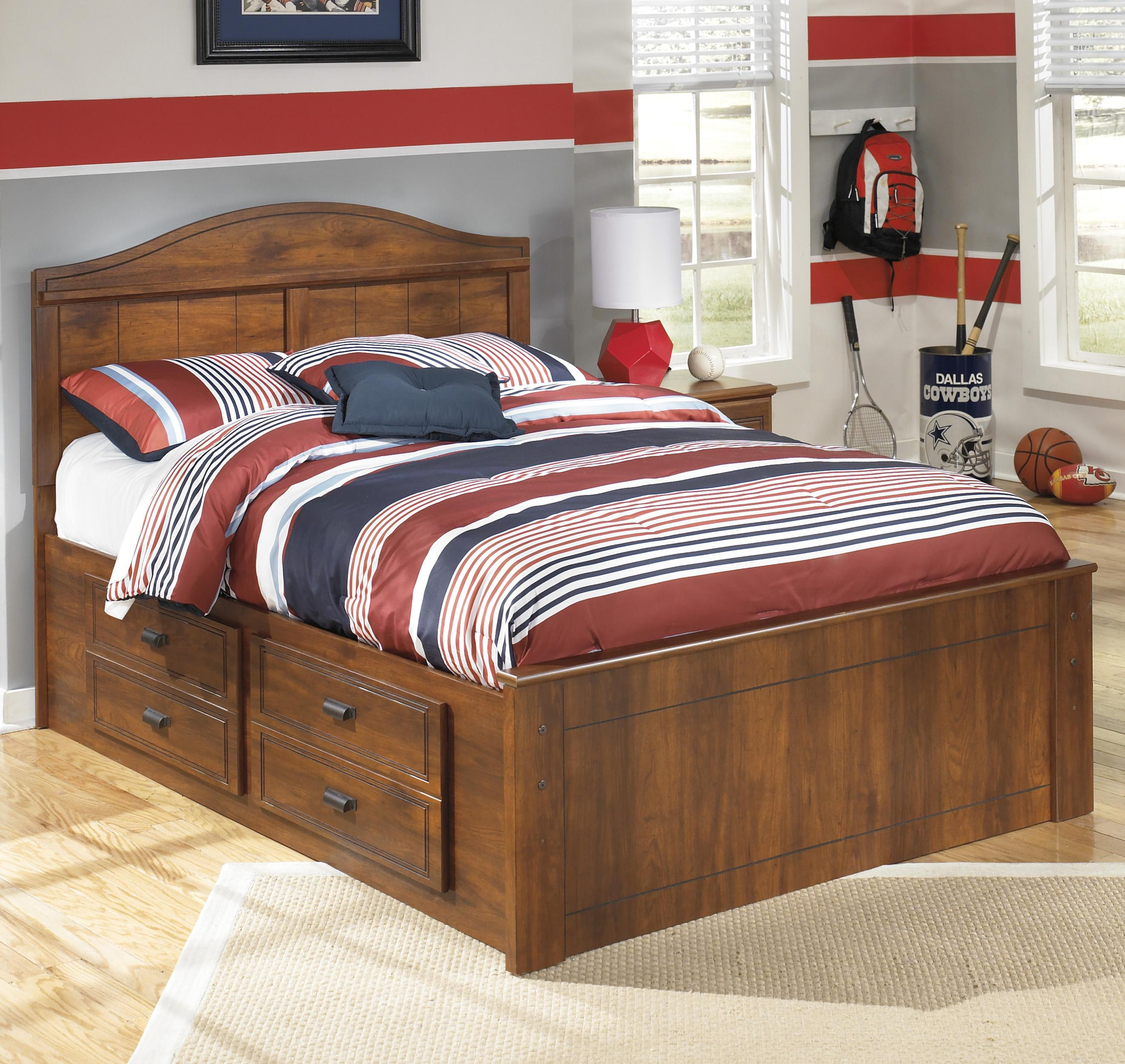 Ashley Signature Design Barchan Full Panel Bed With Underbed Storage Dunk Bright Furniture