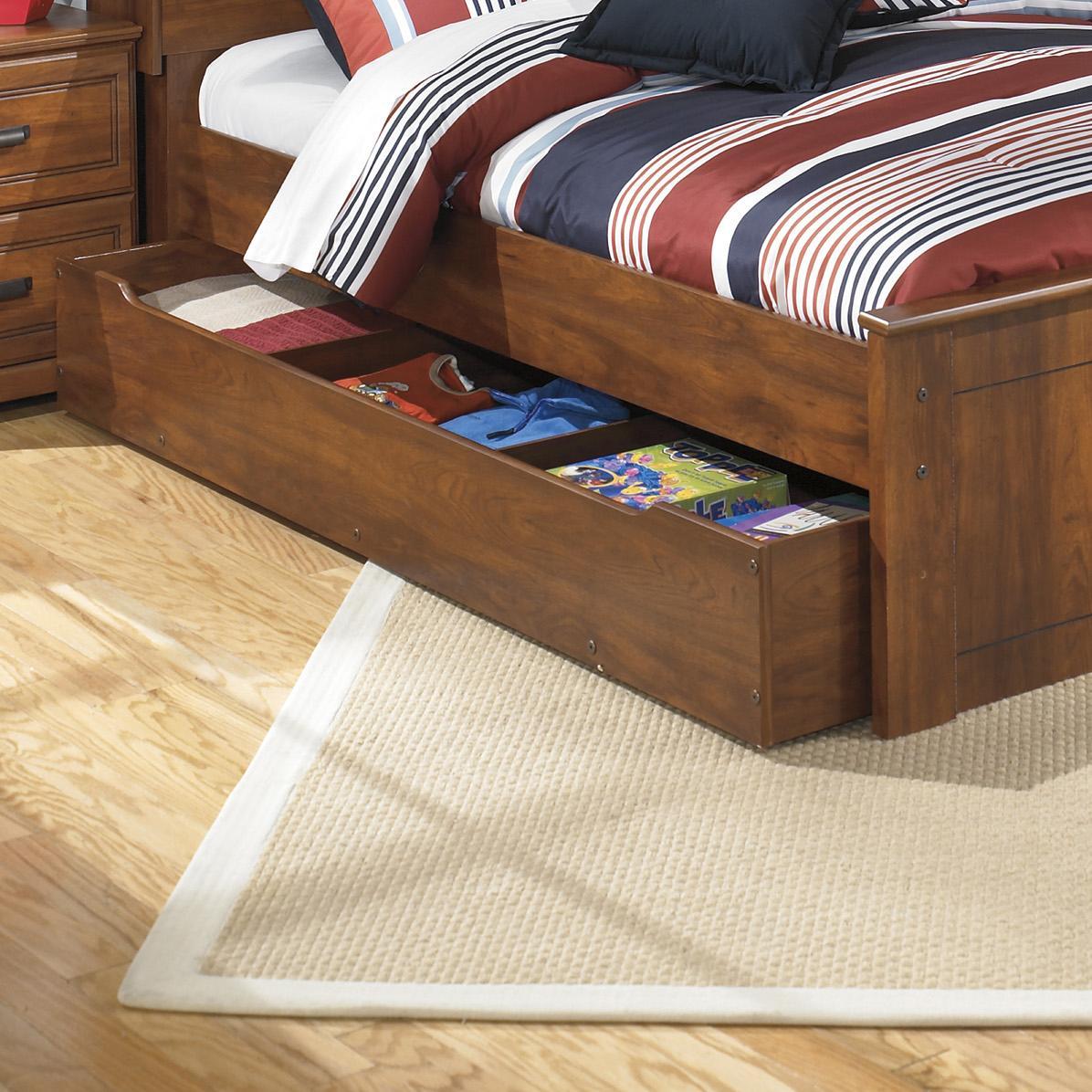 ashley signature design barchan full panel bed with trundle under bed storage unit dunk. Black Bedroom Furniture Sets. Home Design Ideas