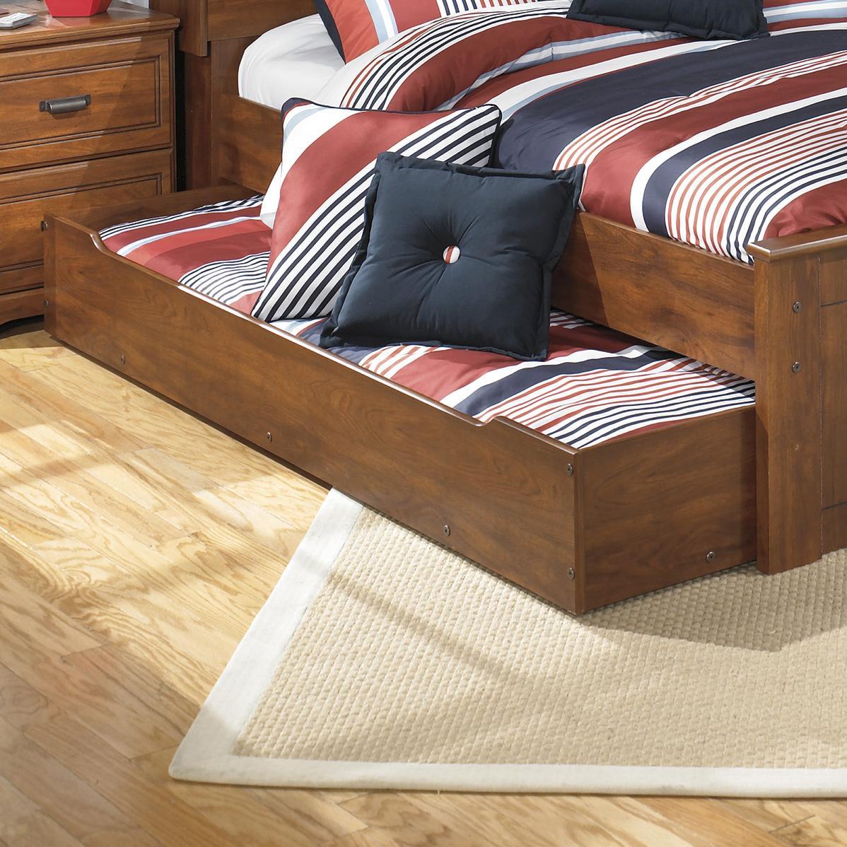 ashley signature design barchan full panel bed with trundle under bed storage unit johnny. Black Bedroom Furniture Sets. Home Design Ideas