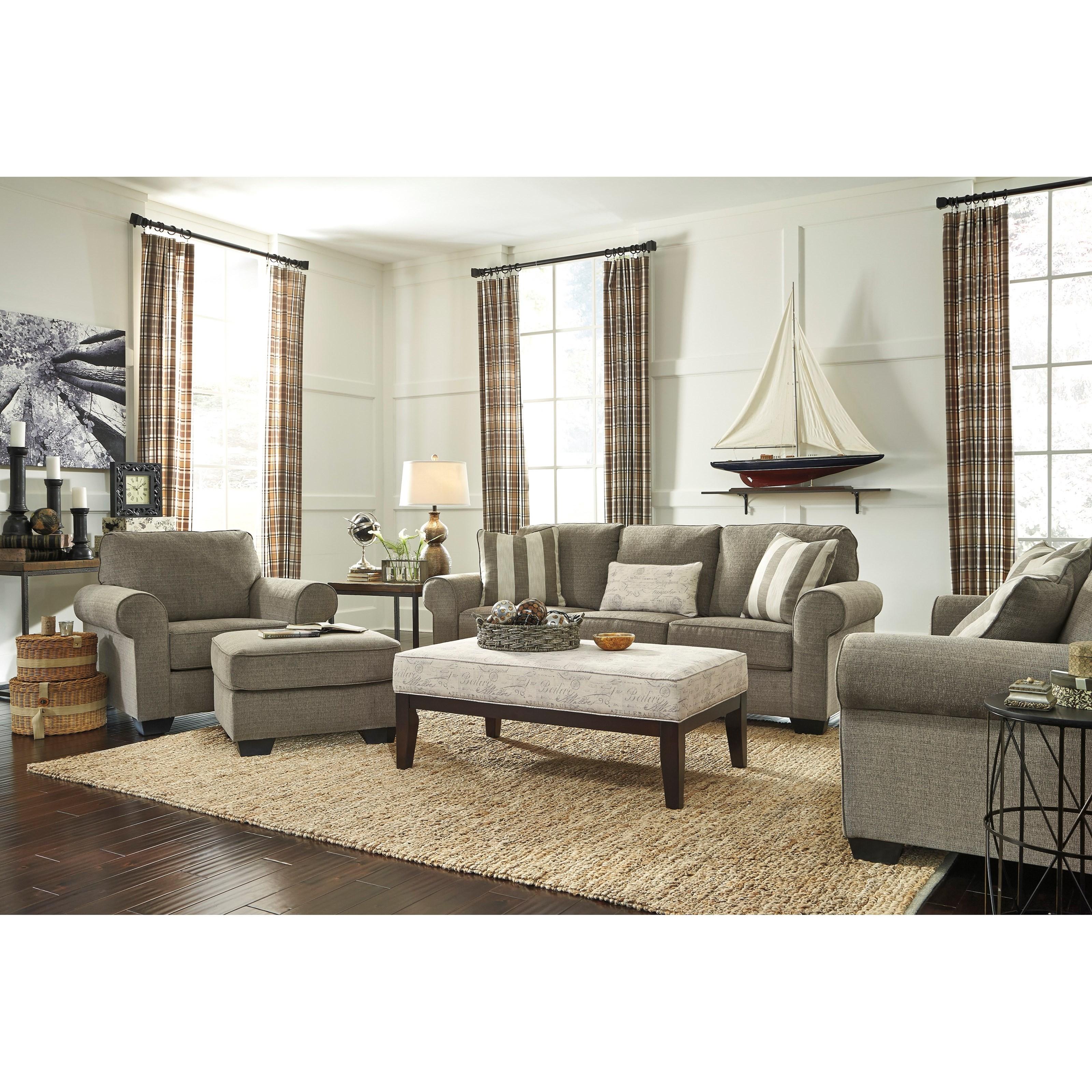 Ashley Signature Design Baveria Stationary Living Room Group Dunk Bri