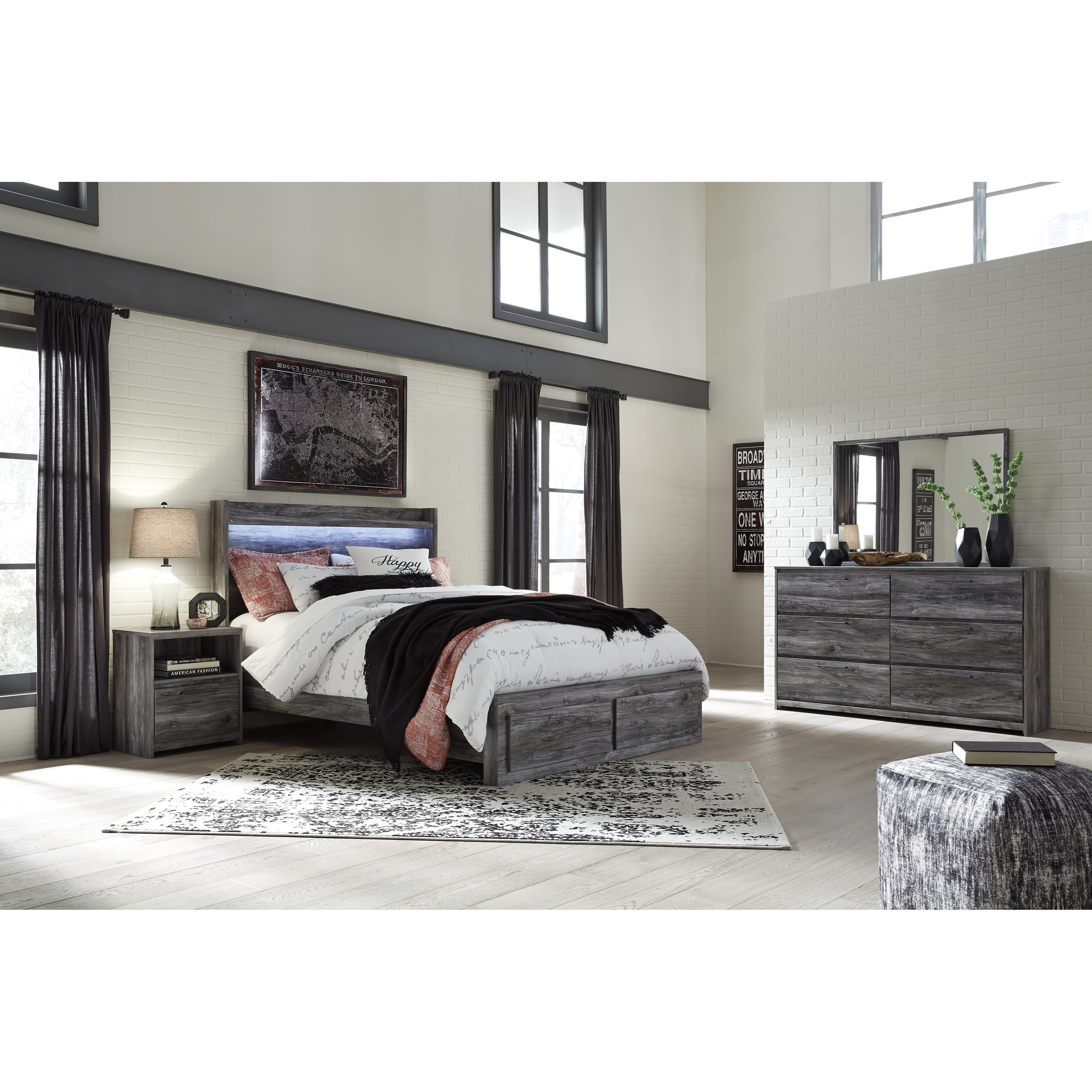 Signature Design By Ashley Baystorm Queen Bedroom Group Value City Furniture Bedroom Groups