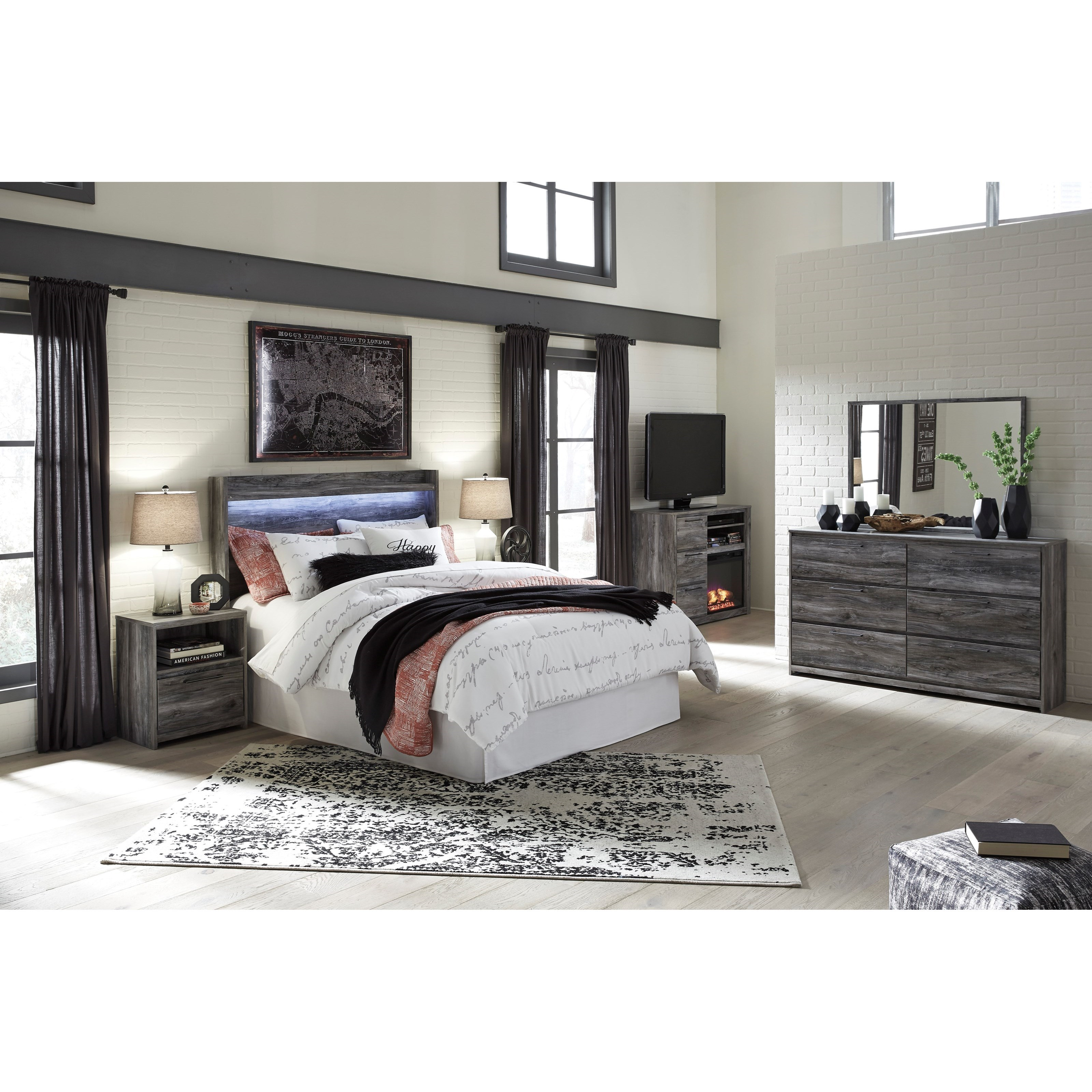 Signature design by ashley baystorm queen bedroom group for Bedroom groups