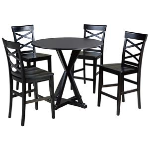 signature design by ashley berlmine 5 piece counter table and stool