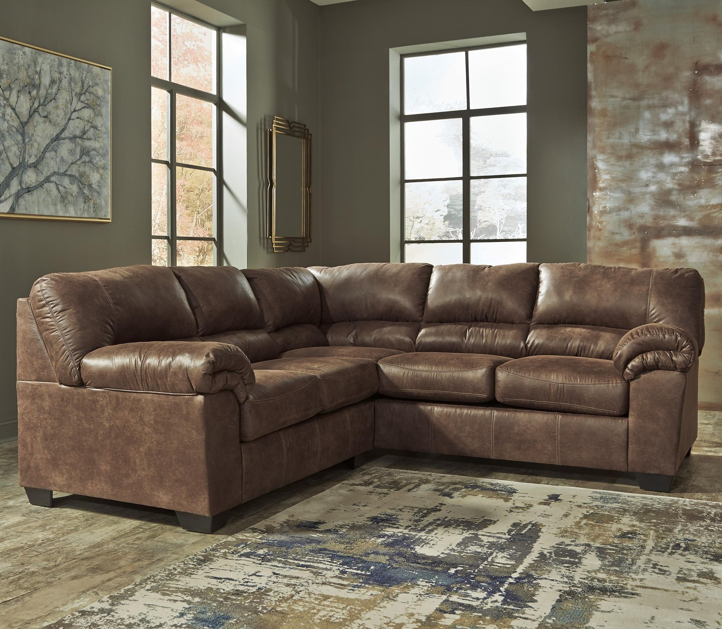 Ashley Signature Design Bladen 2 Piece Faux Leather Sectional Dunk Bright Furniture