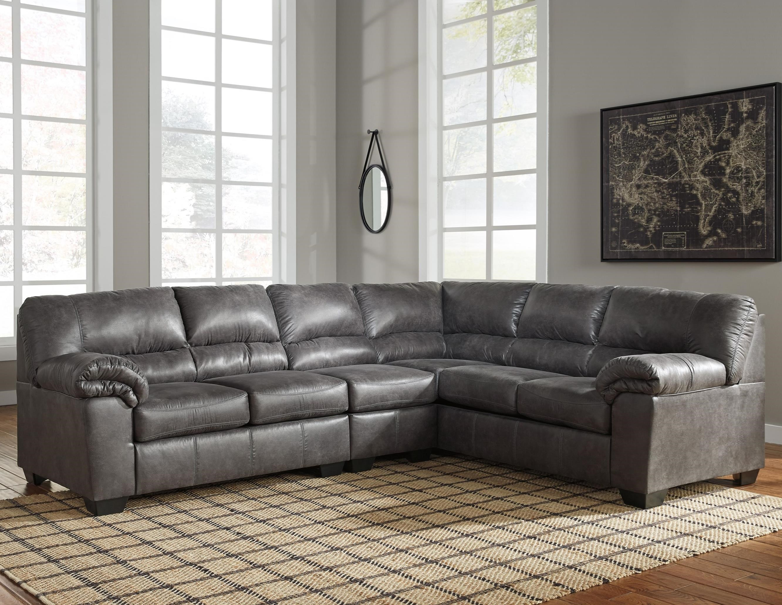 Signature Design By Ashley Bladen 3 Piece Faux Leather Sectional Knight Furniture Mattress