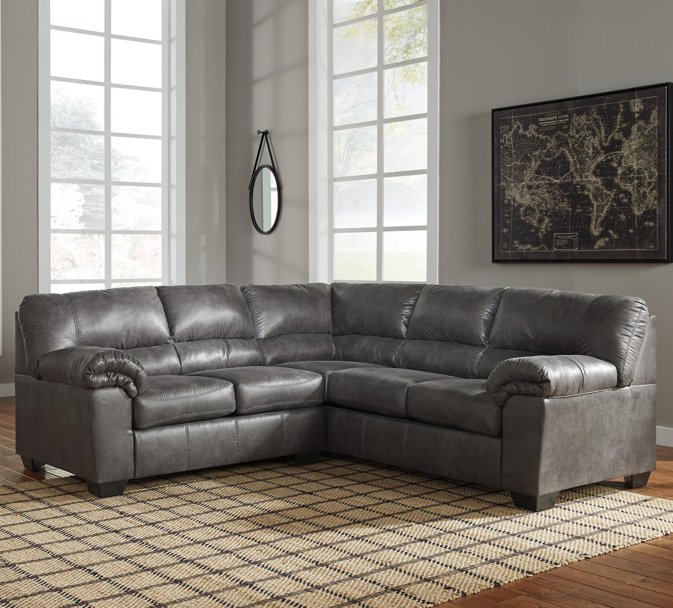 Signature Design By Ashley Bladen 2 Piece Faux Leather Sectional Del Sol Furniture Sectional