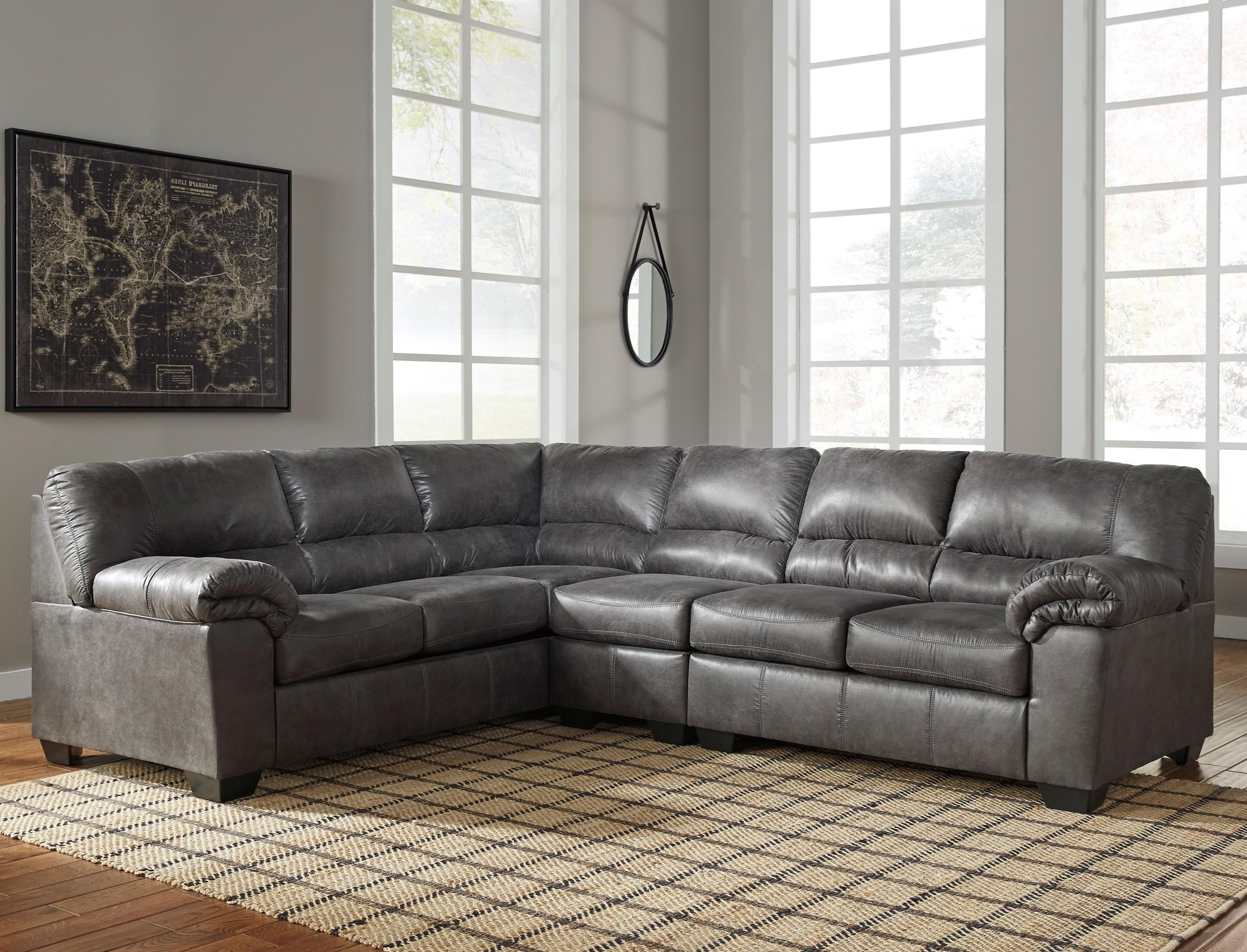 Signature Design By Ashley Bladen 3 Piece Faux Leather Sectional Royal Furniture Sectional Sofas