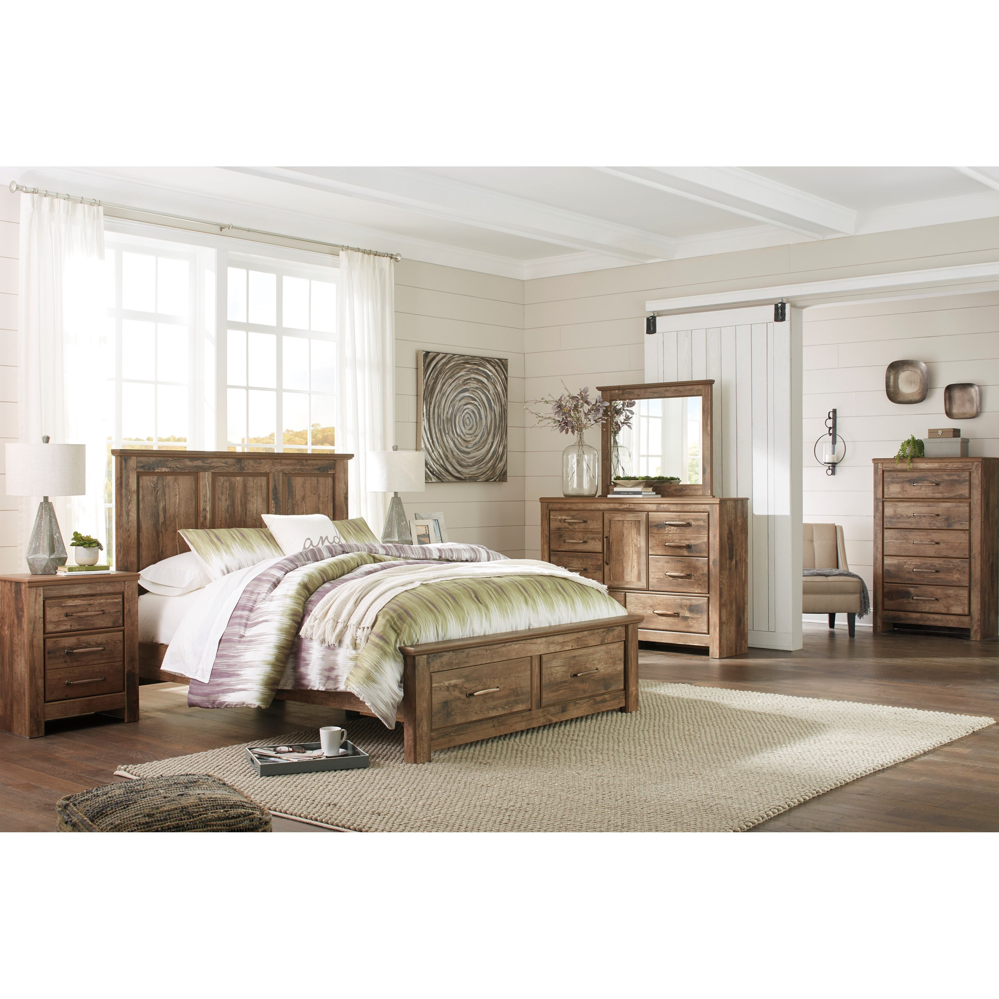 Signature design by ashley blaneville king bedroom group for Bedroom furniture groups