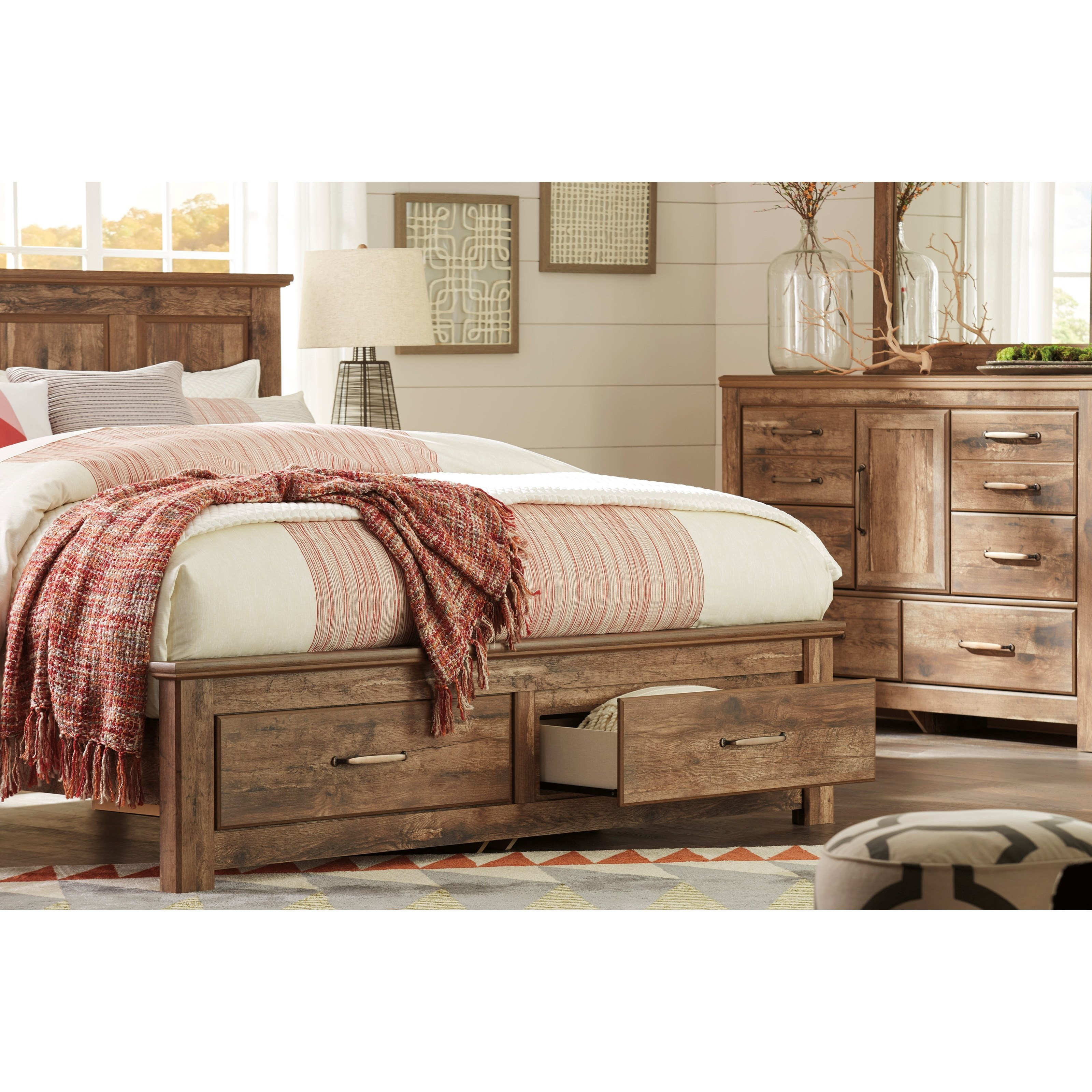 Signature Design By Ashley Blaneville King Panel Storage Bed Royal Furniture Platform Beds