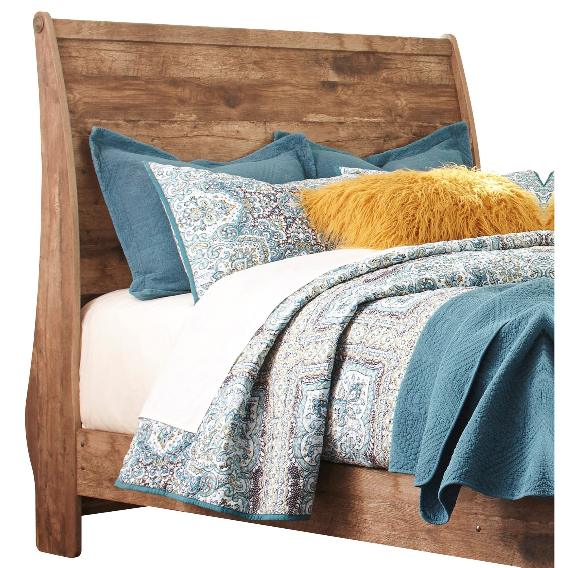 Signature design by ashley blaneville rustic style queen for Royal headboard
