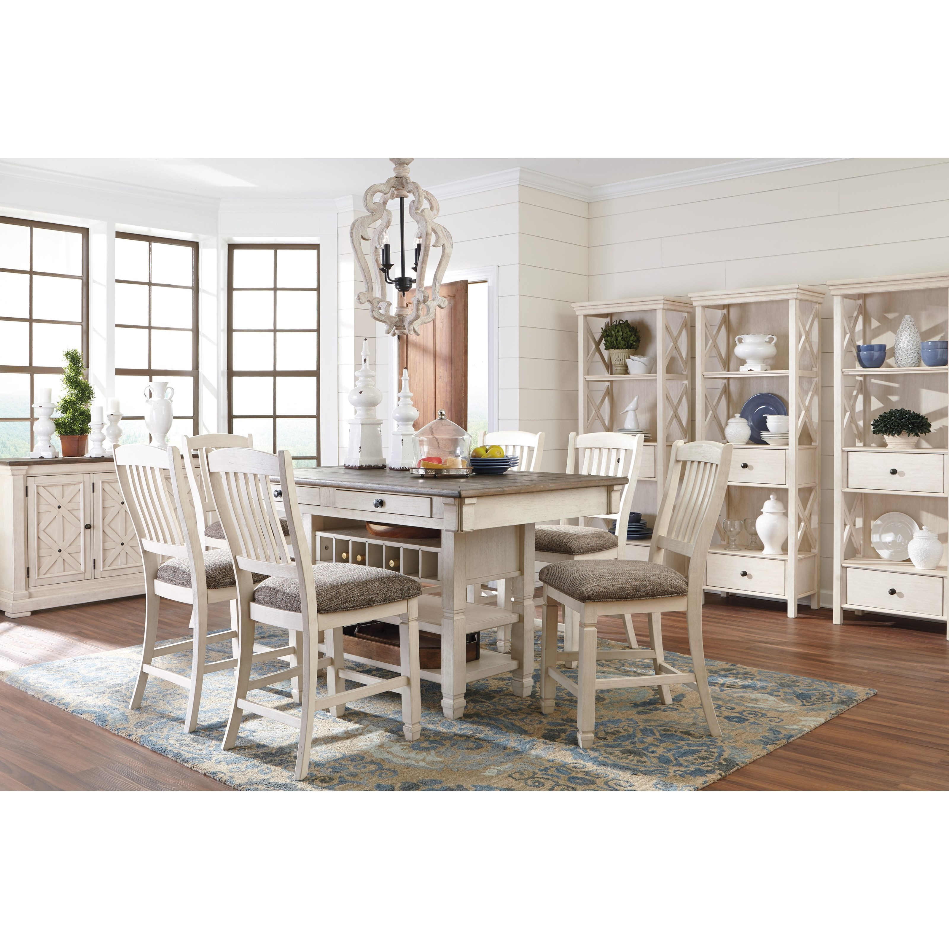 Signature design by ashley bolanburg casual dining room for Casual dining room chairs