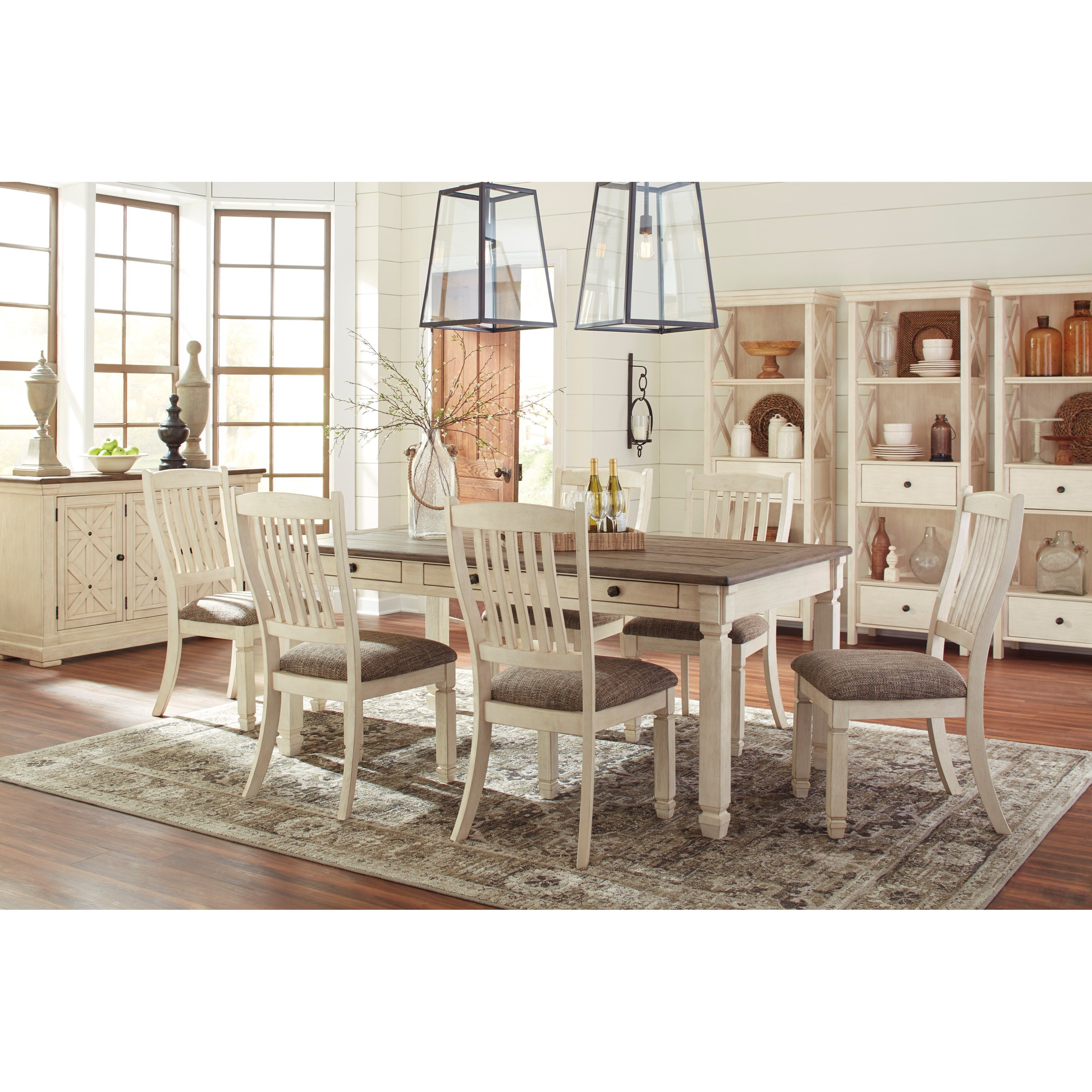Signature design by ashley bolanburg casual dining room for Informal dining room tables