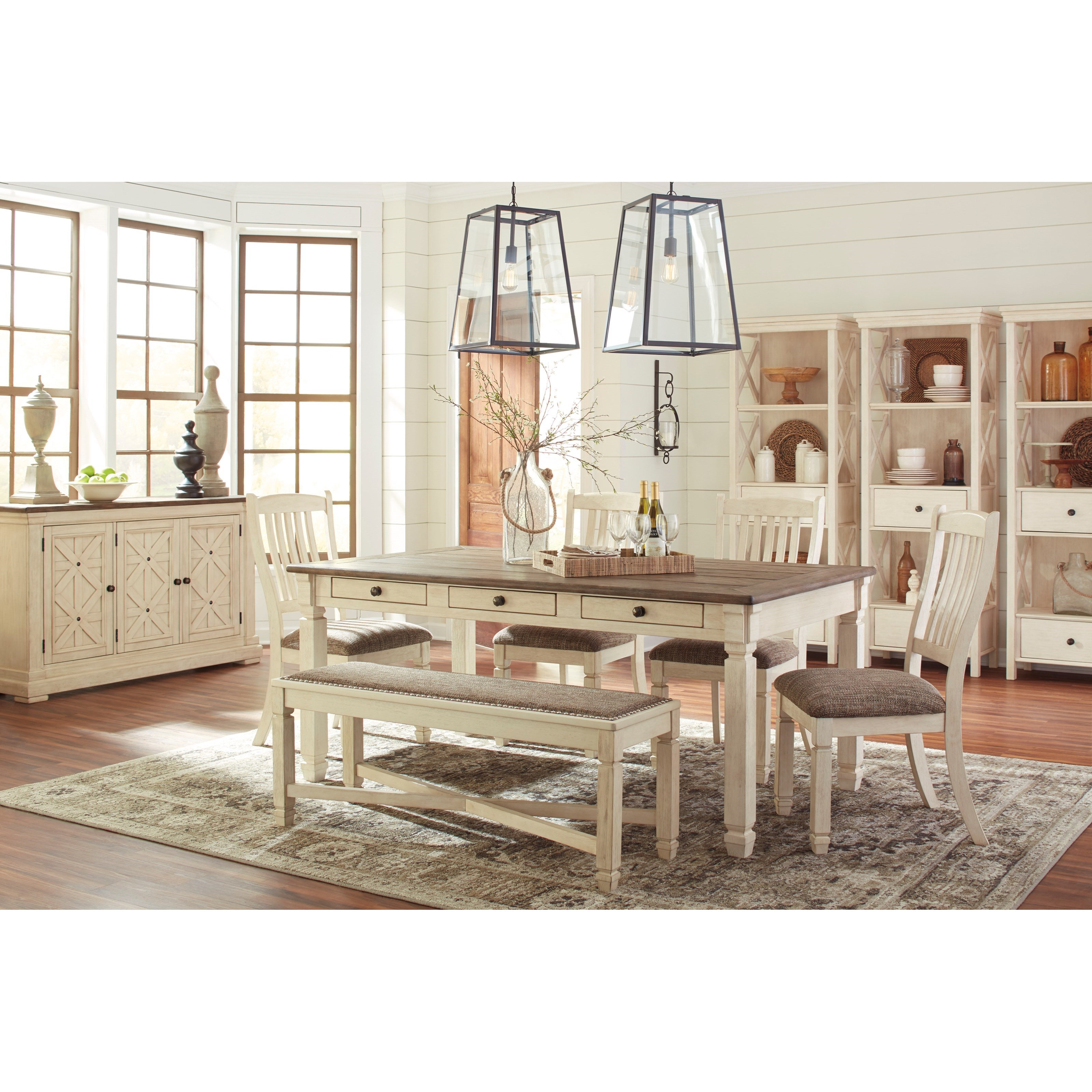 Signature design by ashley bolanburg casual dining room for Wayside furniture