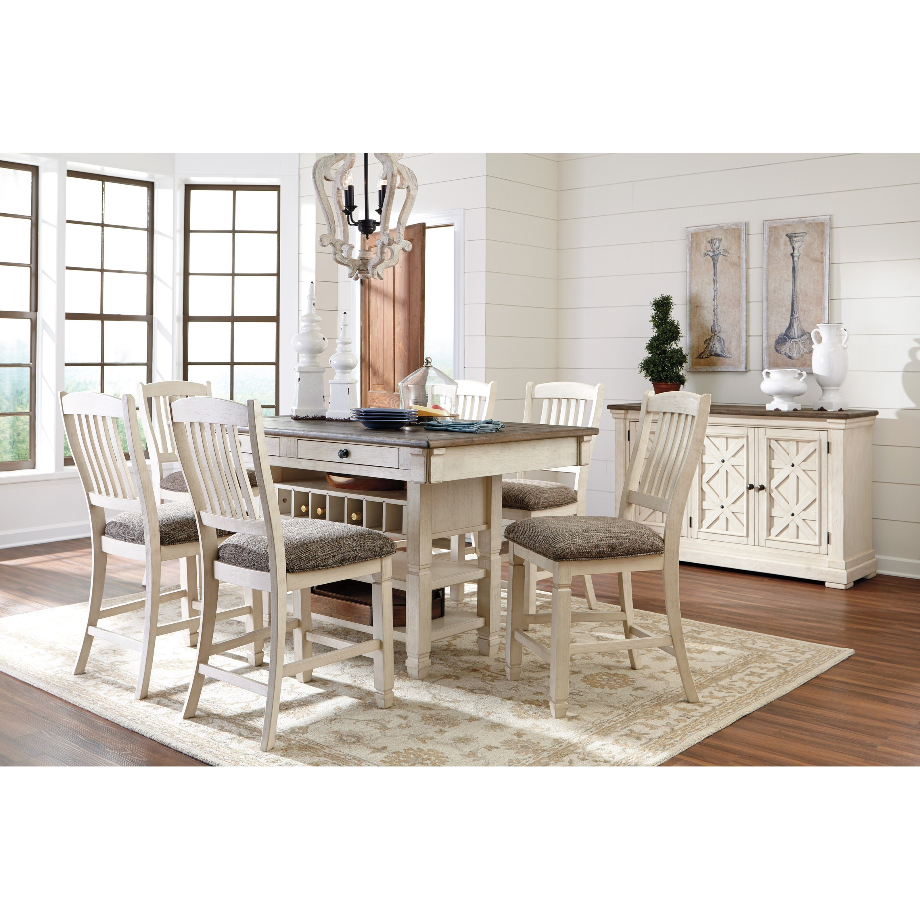 Signature design by ashley bolanburg casual dining room for Casual dining room furniture