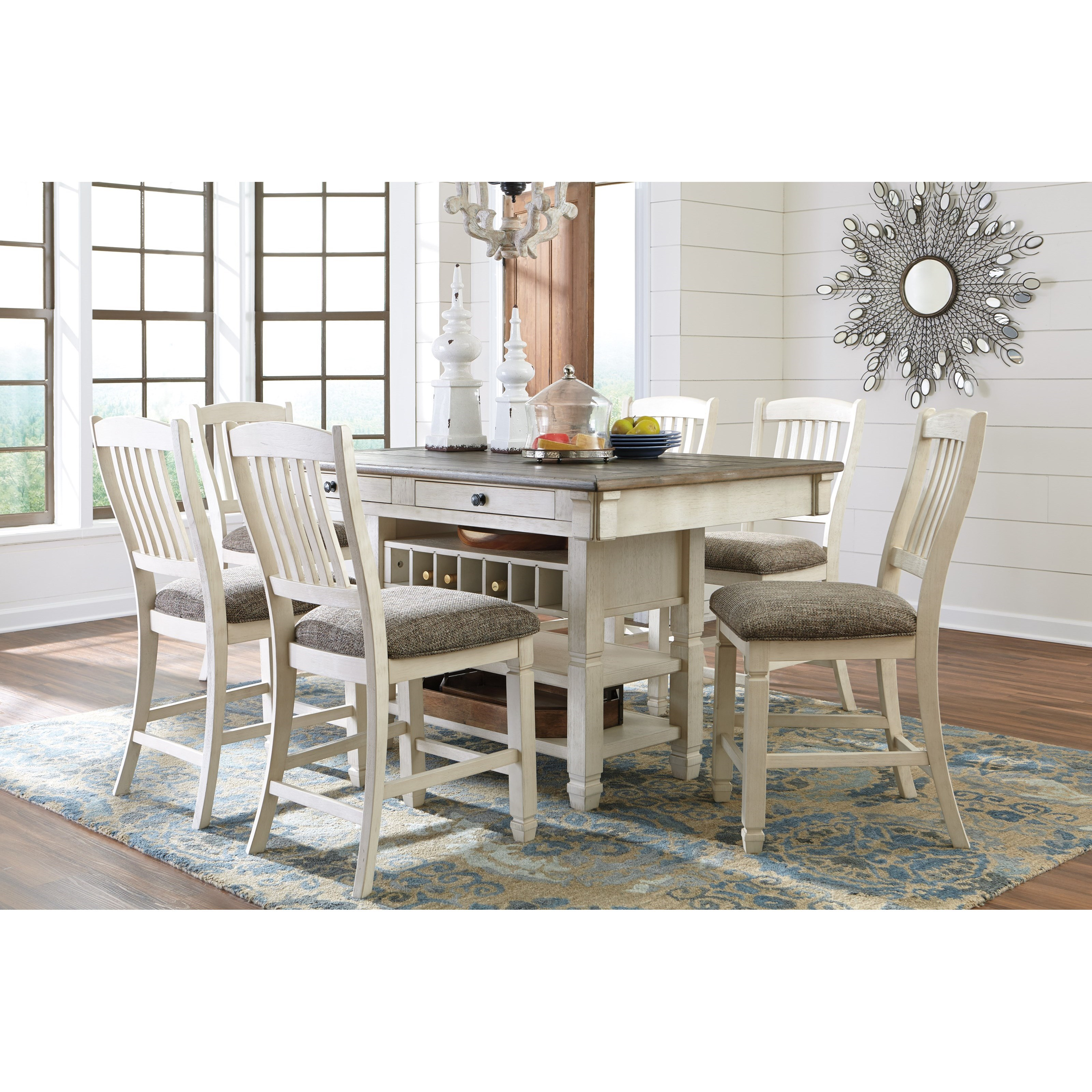 Signature design by ashley bolanburg d647 124 relaxed for Wine and design west ashley