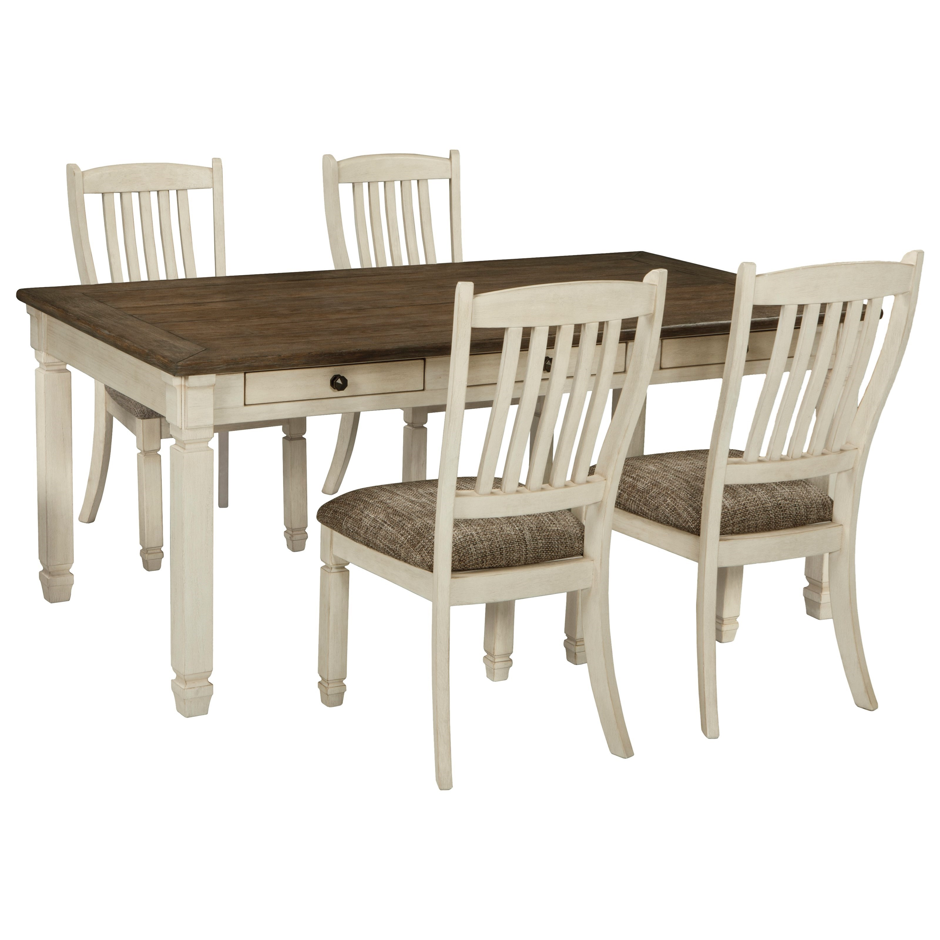 Signature design by ashley bolanburg relaxed vintage 5 for Table and chair set