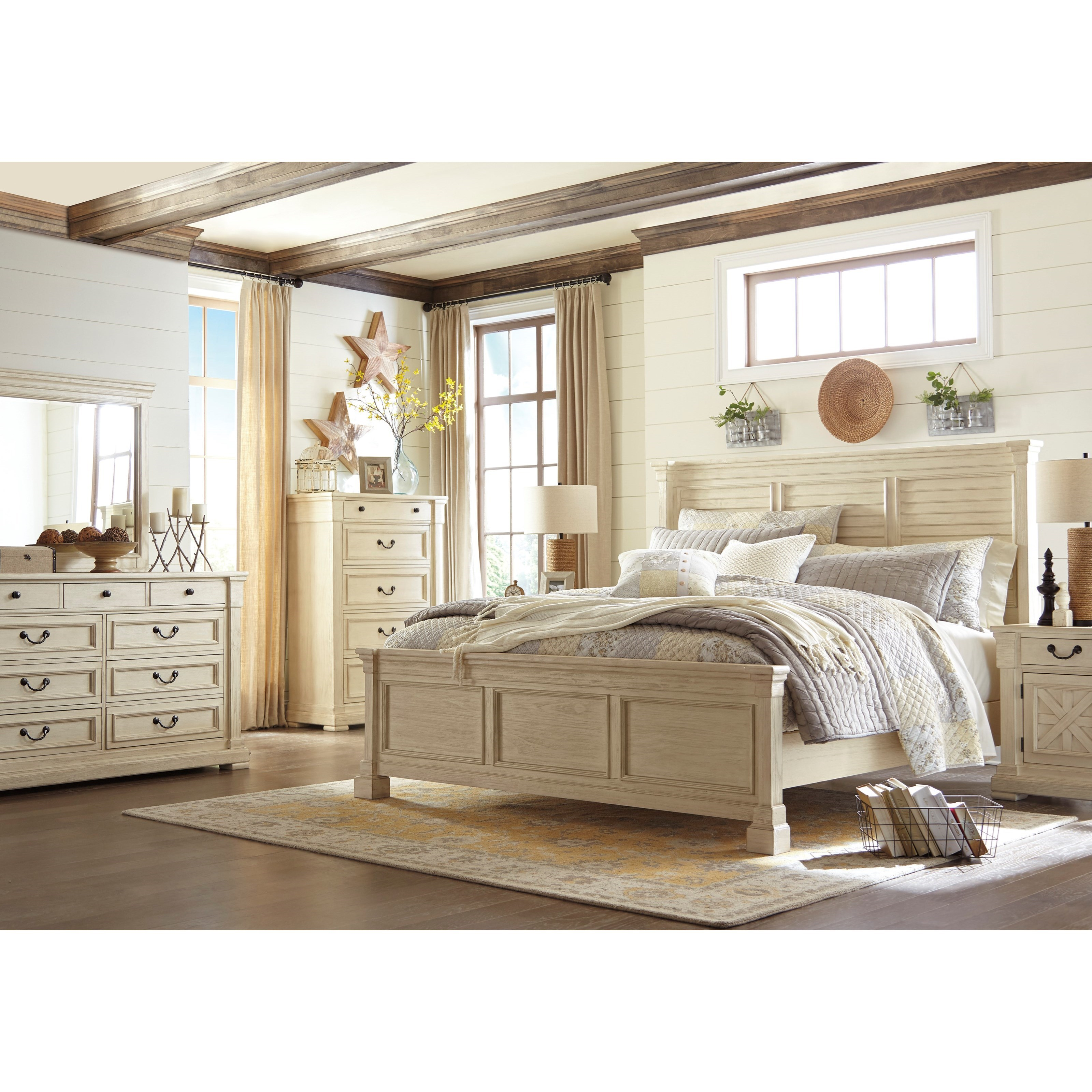 Signature design by ashley bolanburg queen bedroom group for Signature bedroom furniture