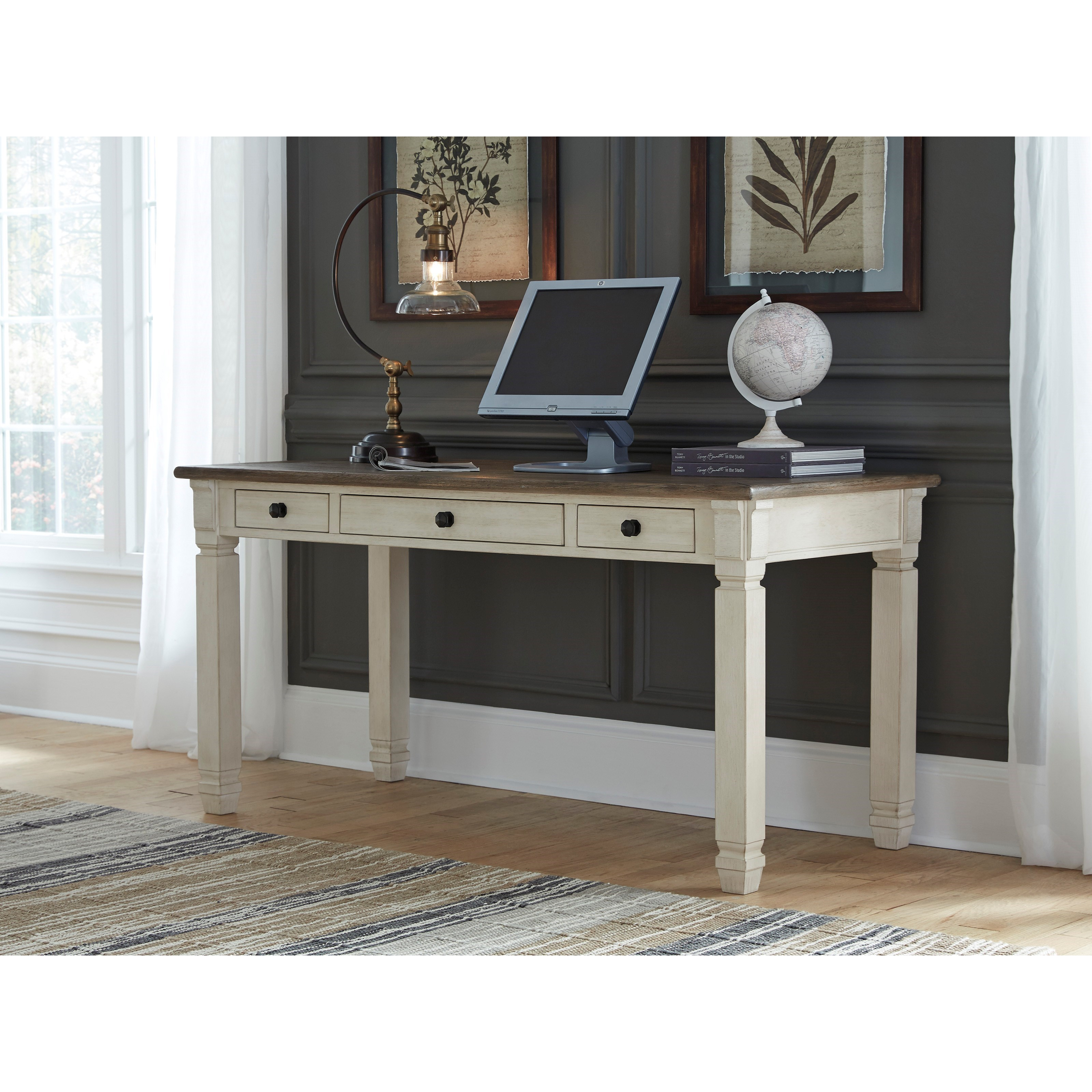Signature Design By Ashley Bolanburg Two Tone Home Office