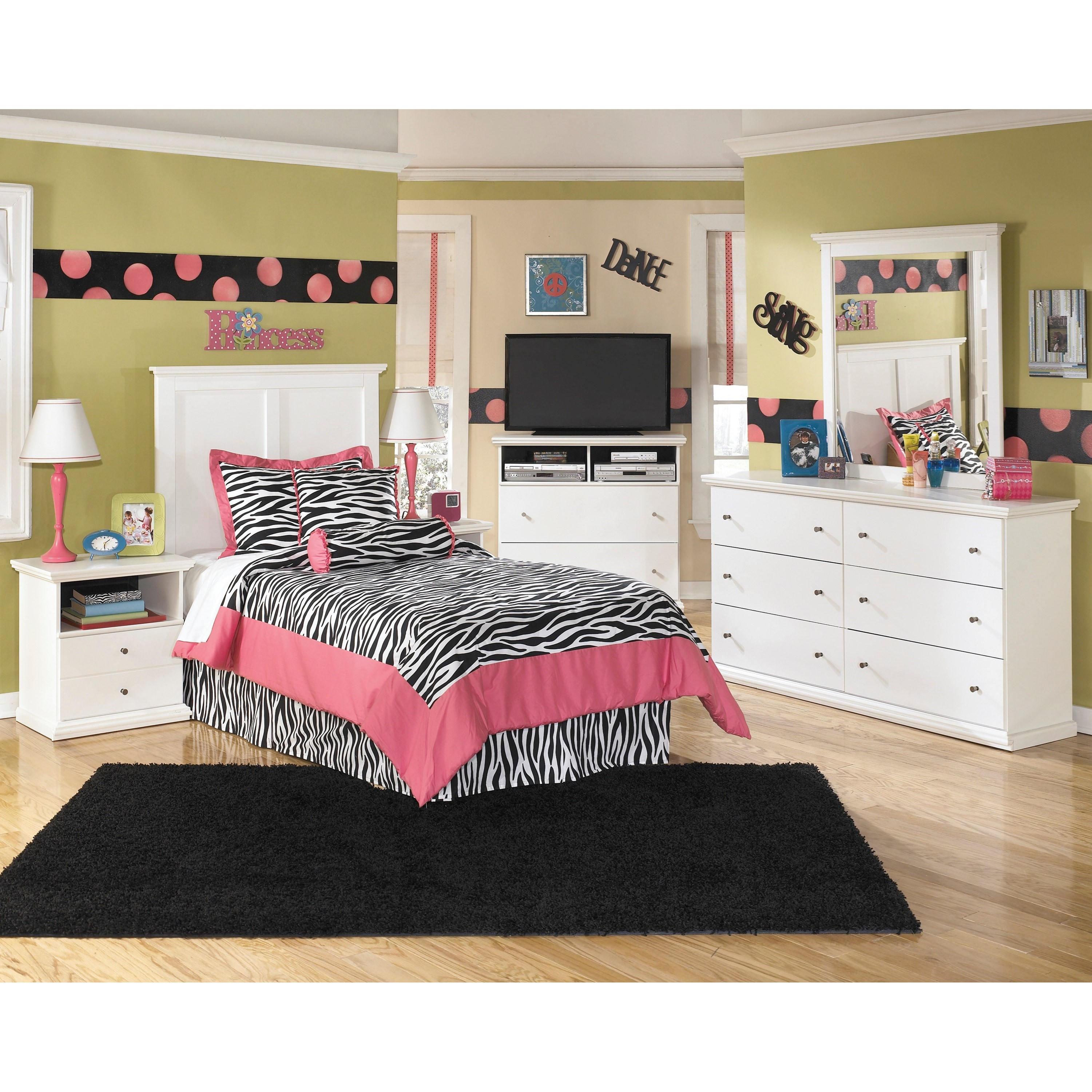 Signature design by ashley bostwick shoals twin bedroom for Bedroom groups