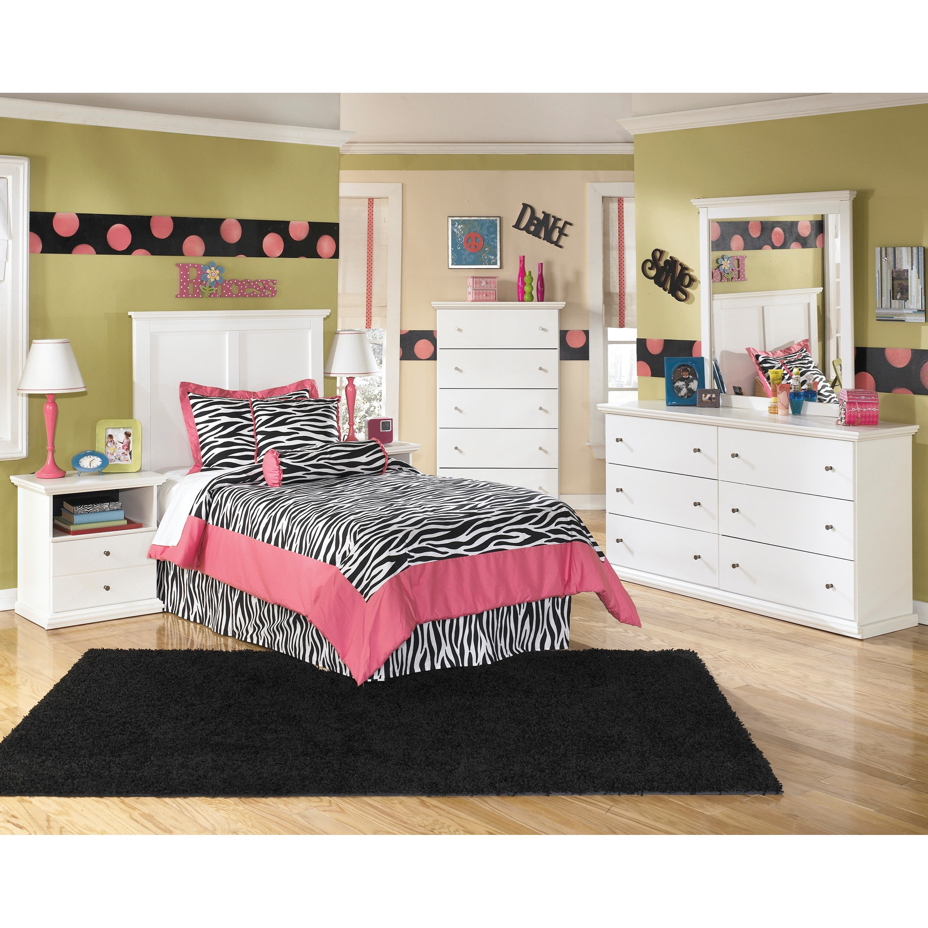 Signature design by ashley bostwick shoals twin bedroom for Bedroom furniture groups