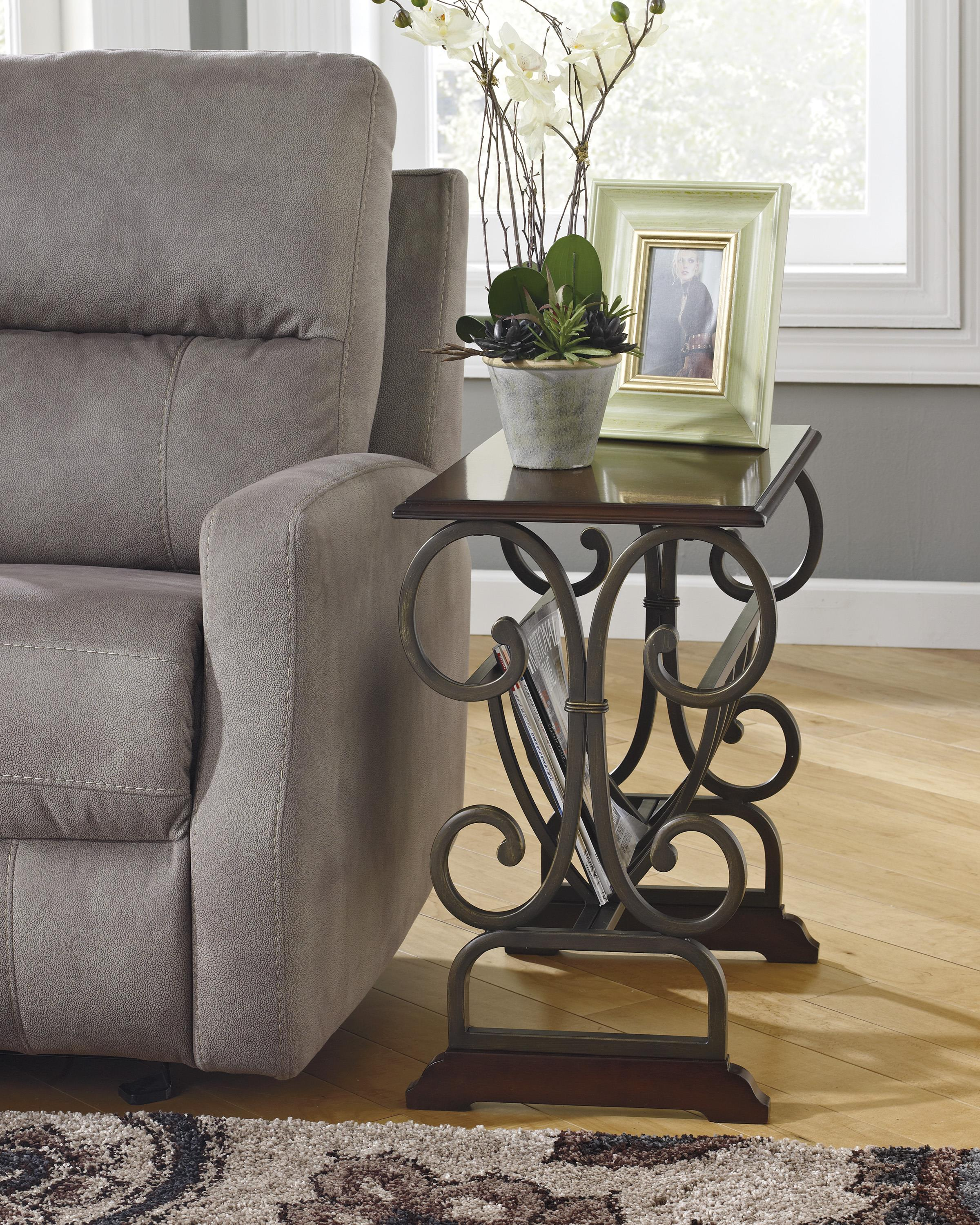 signature design by ashley braunsen traditional chair side