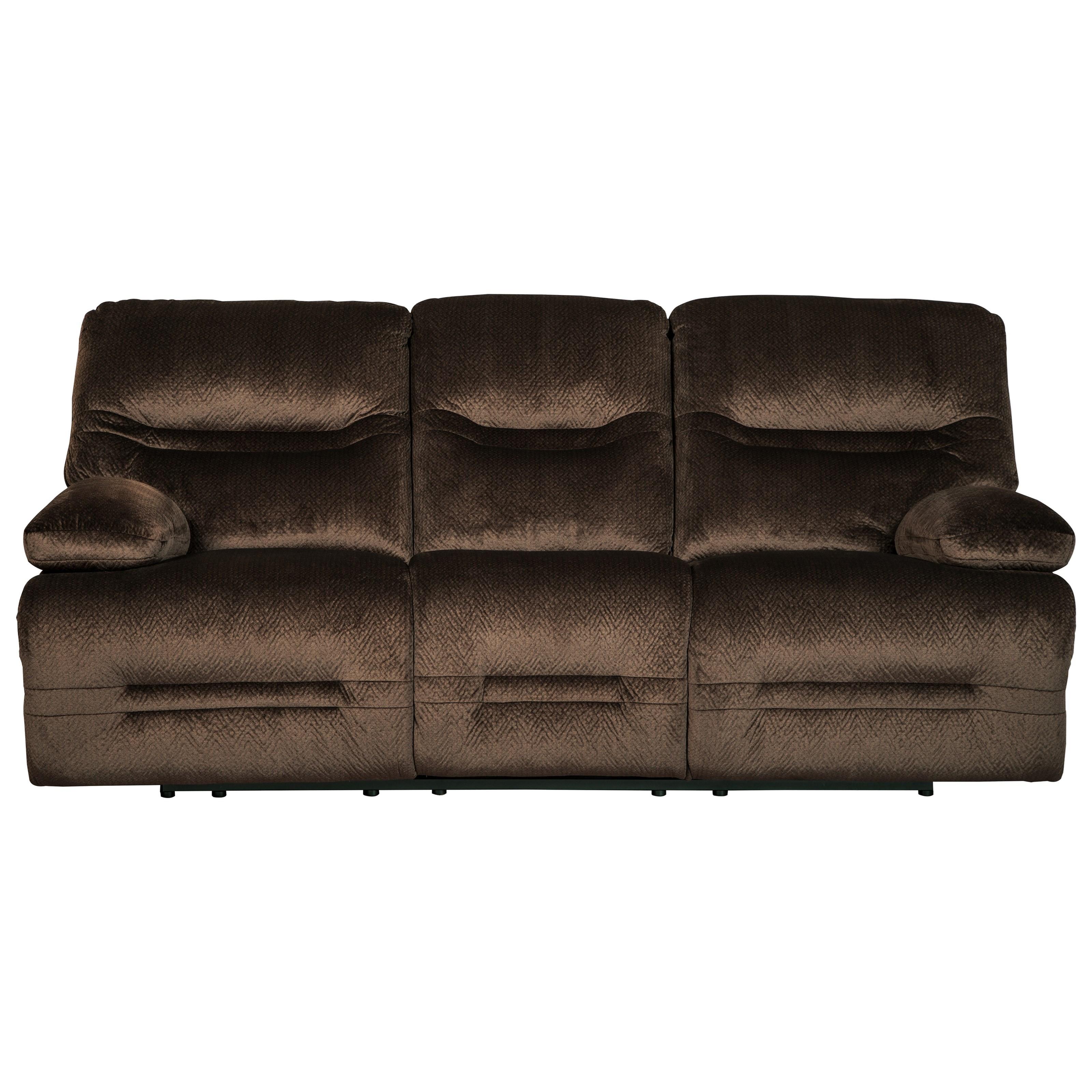Signature design by ashley brayburn contemporary reclining for Contemporary reclining sofas