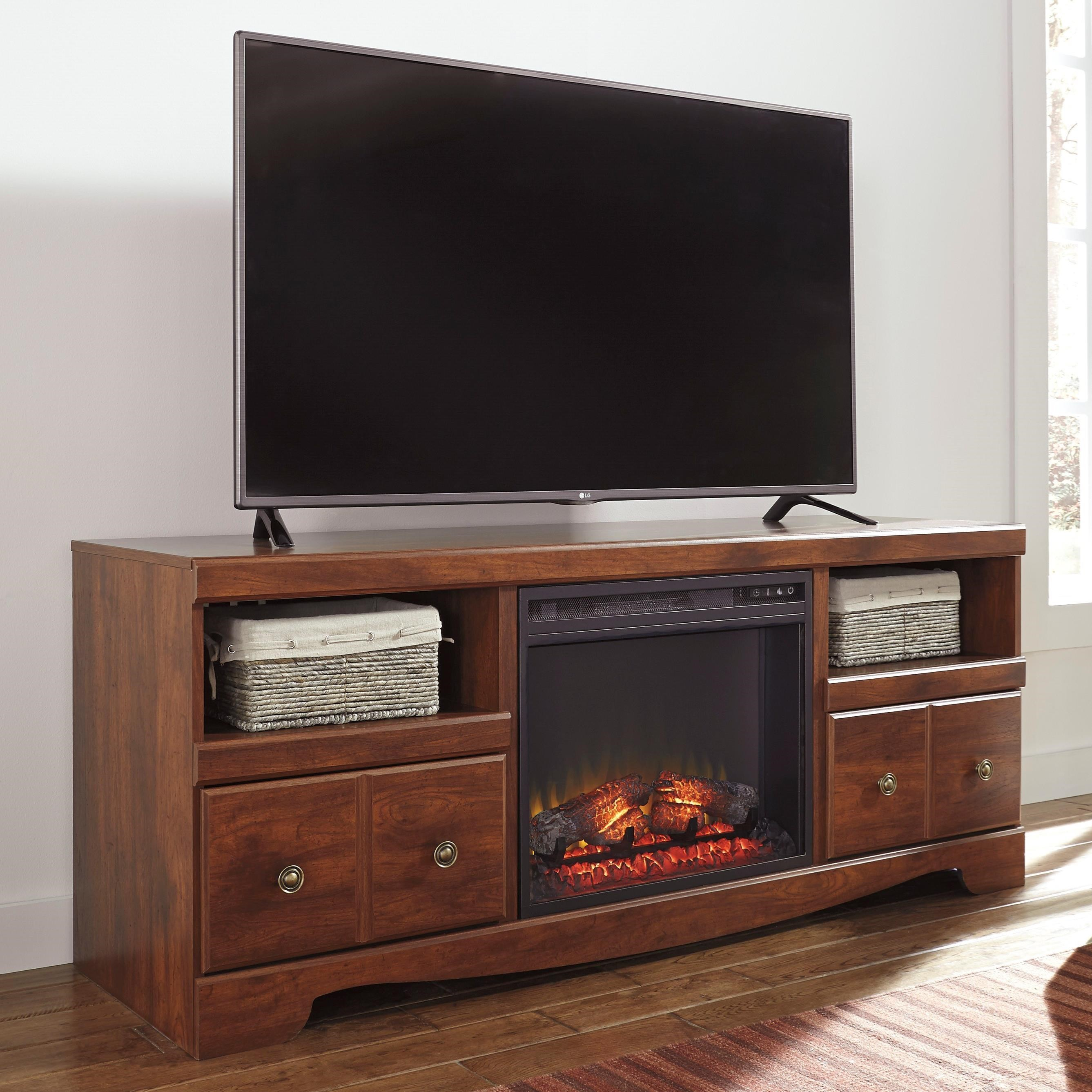 Signature design by ashley brittberg cherry finish large for Ivan smith furniture