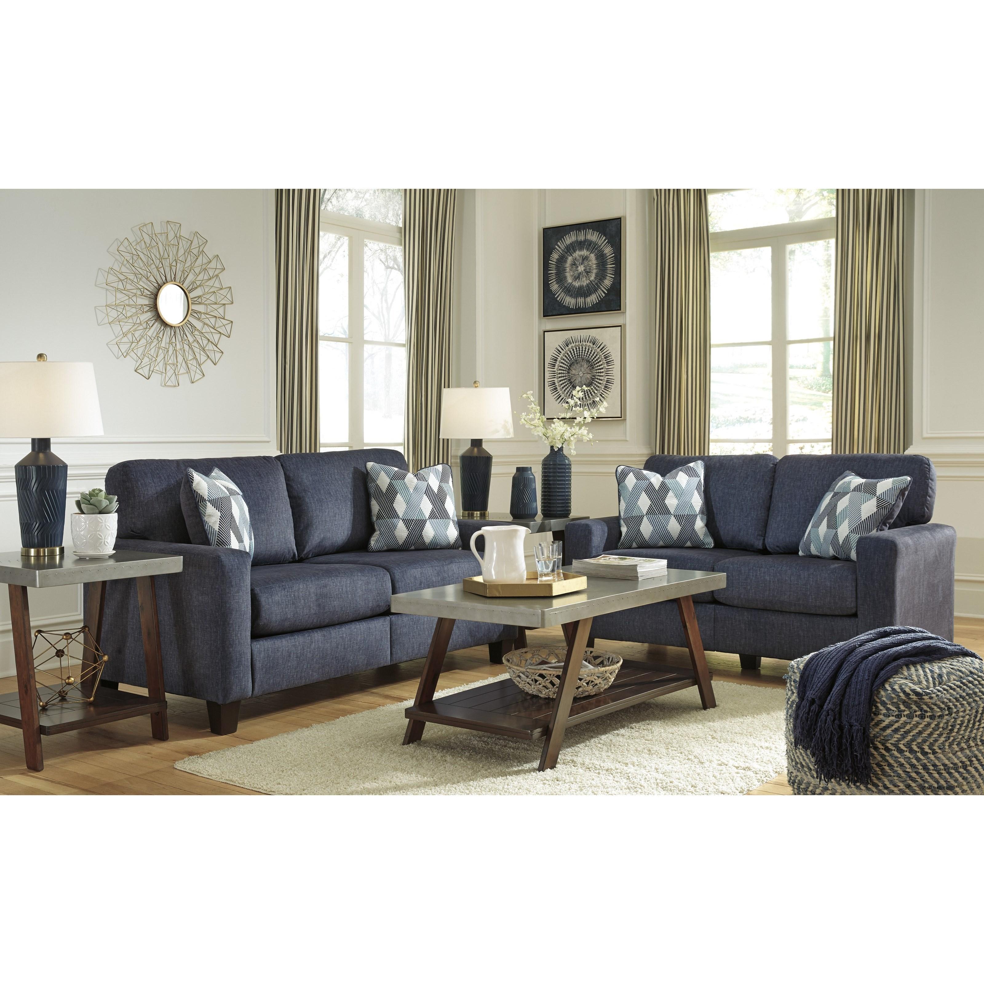 Ashley Signature Design Burgos Living Room Group Johnny Janosik Stationary Living Room Groups