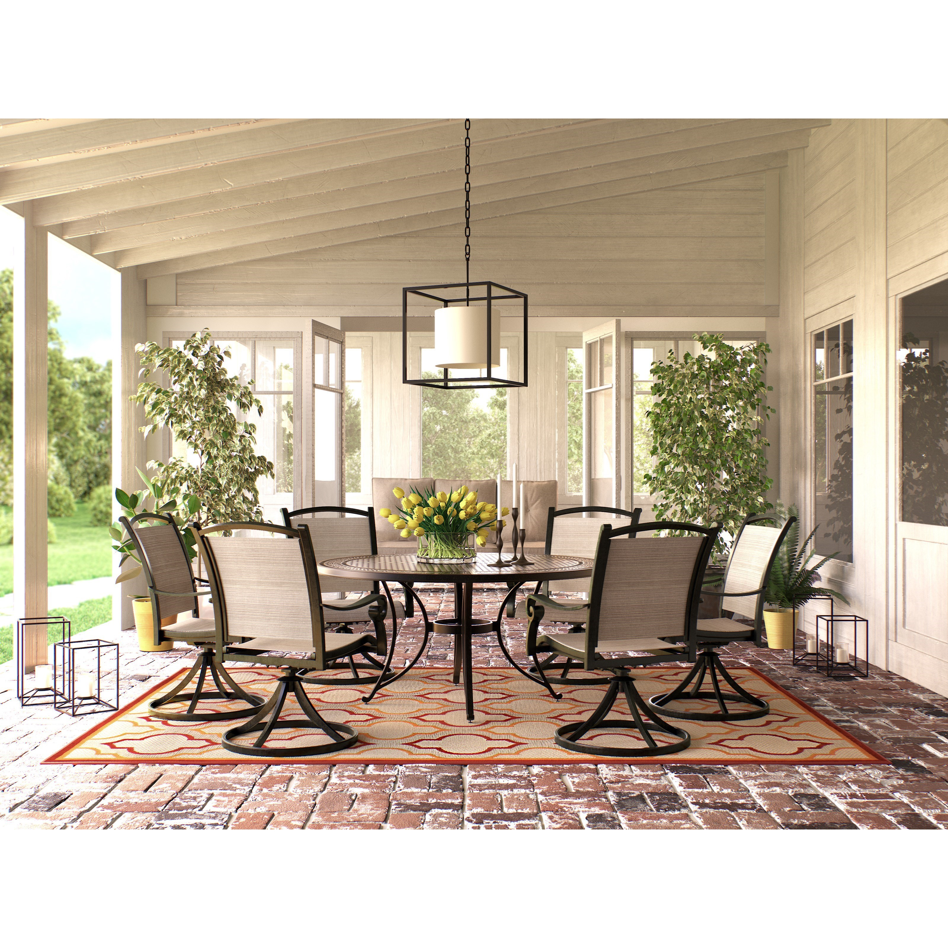Signature Design By Ashley Burnella 7 Piece Outdoor Dining Set Royal Furniture Outdoor