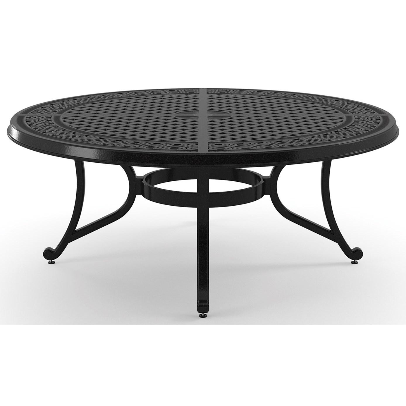 signature design by ashley burnella round metal cocktail table royal furniture outdoor. Black Bedroom Furniture Sets. Home Design Ideas