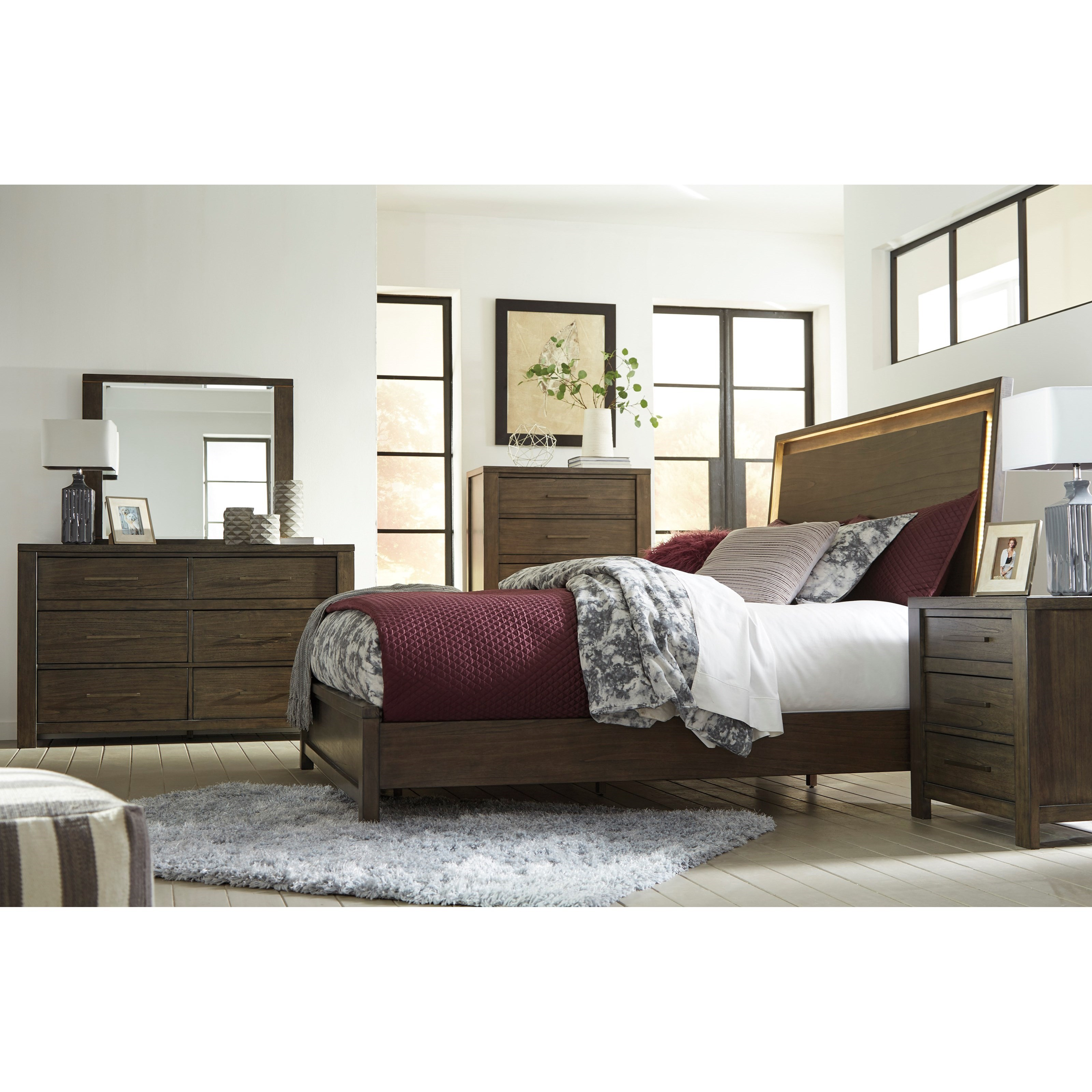 signature design by ashley camilone king panel bed with