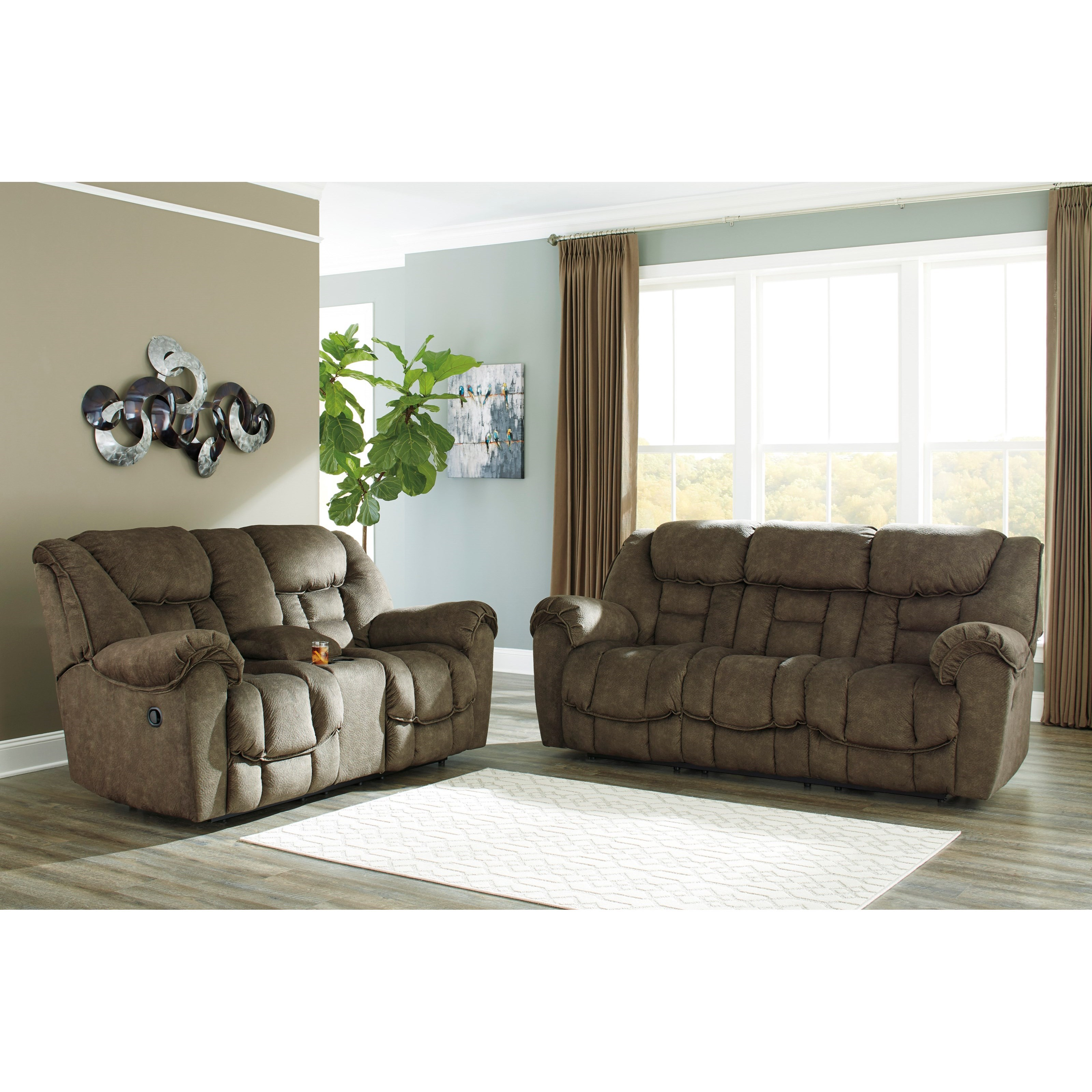 Ashley signature design capehorn reclining living room for Living room furniture groups