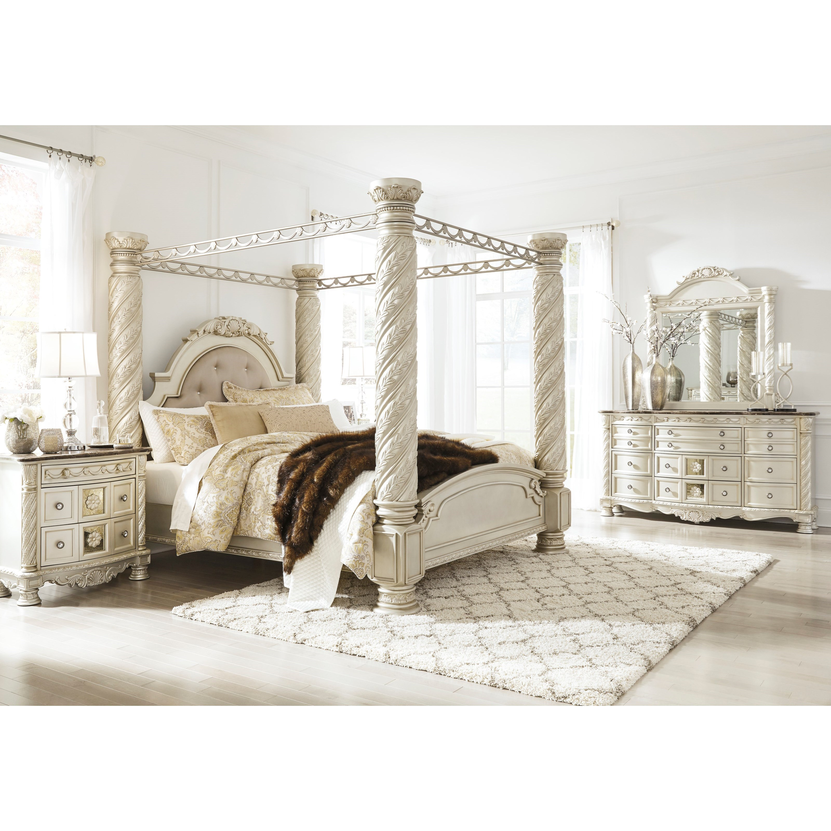 Signature Design By Ashley Cassimore King Bedroom Group Royal Furniture Bedroom Groups