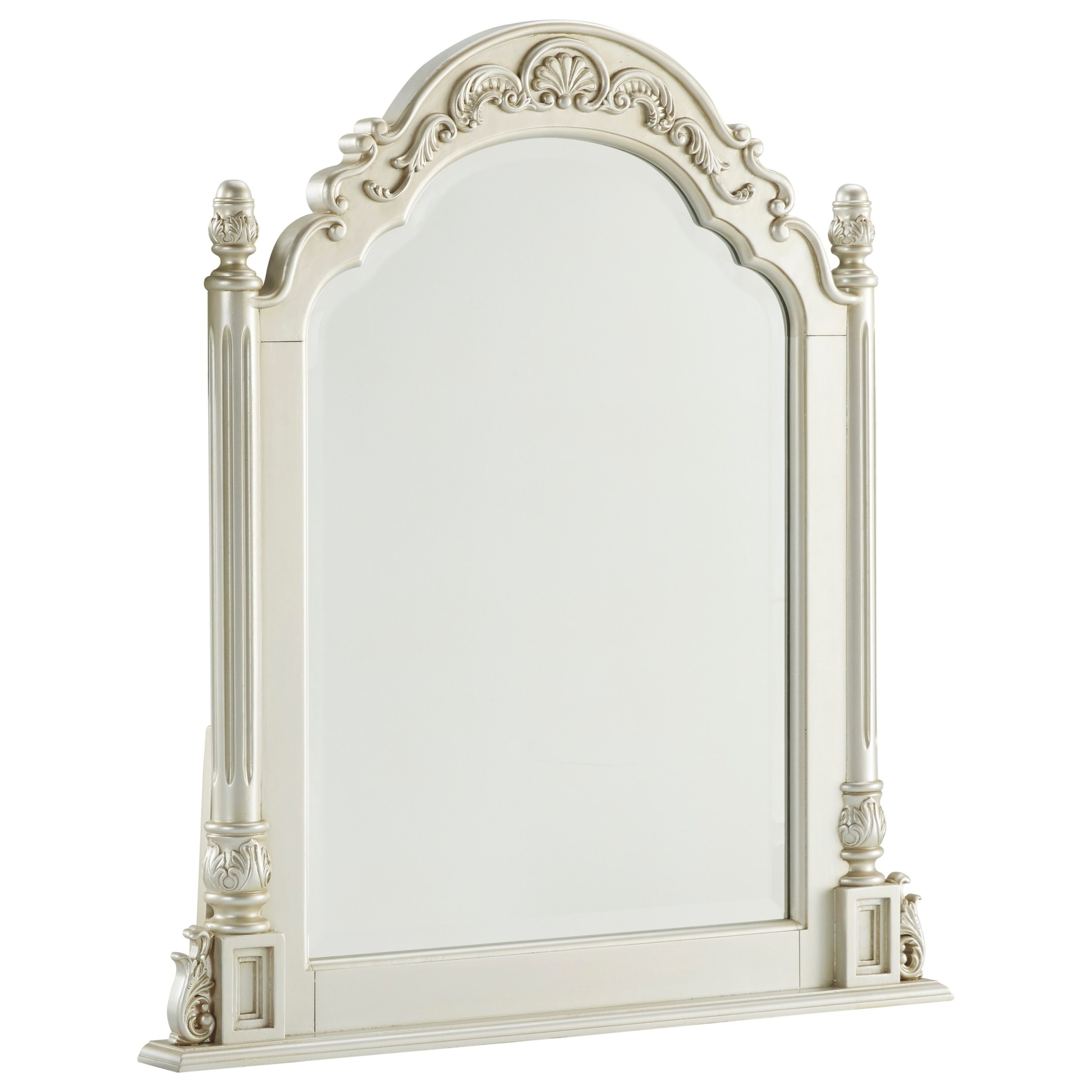 Signature Design By Ashley Cassimore Traditional Vanity Mirror Value City Furniture Vanity